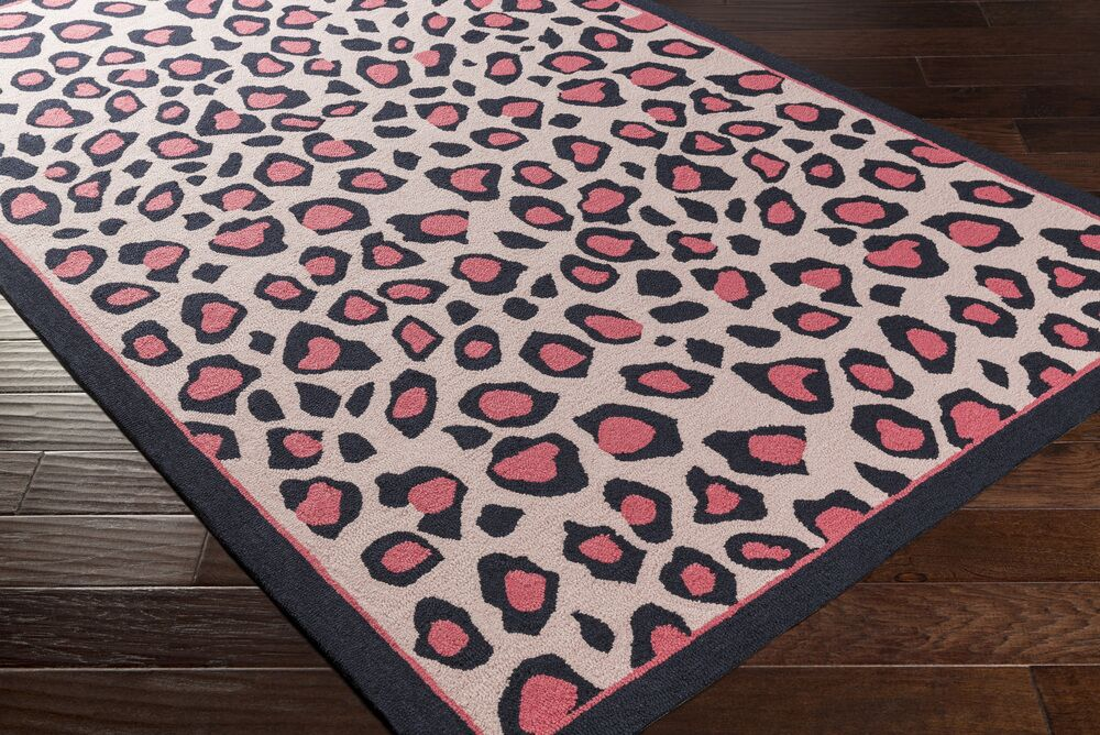 Blake Hand-Hooked Pink Area Rug Rug Size: Rectangle 7'6