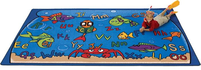 Camila Alphabet Aquarium Kids Rug Rug Size: 4'5