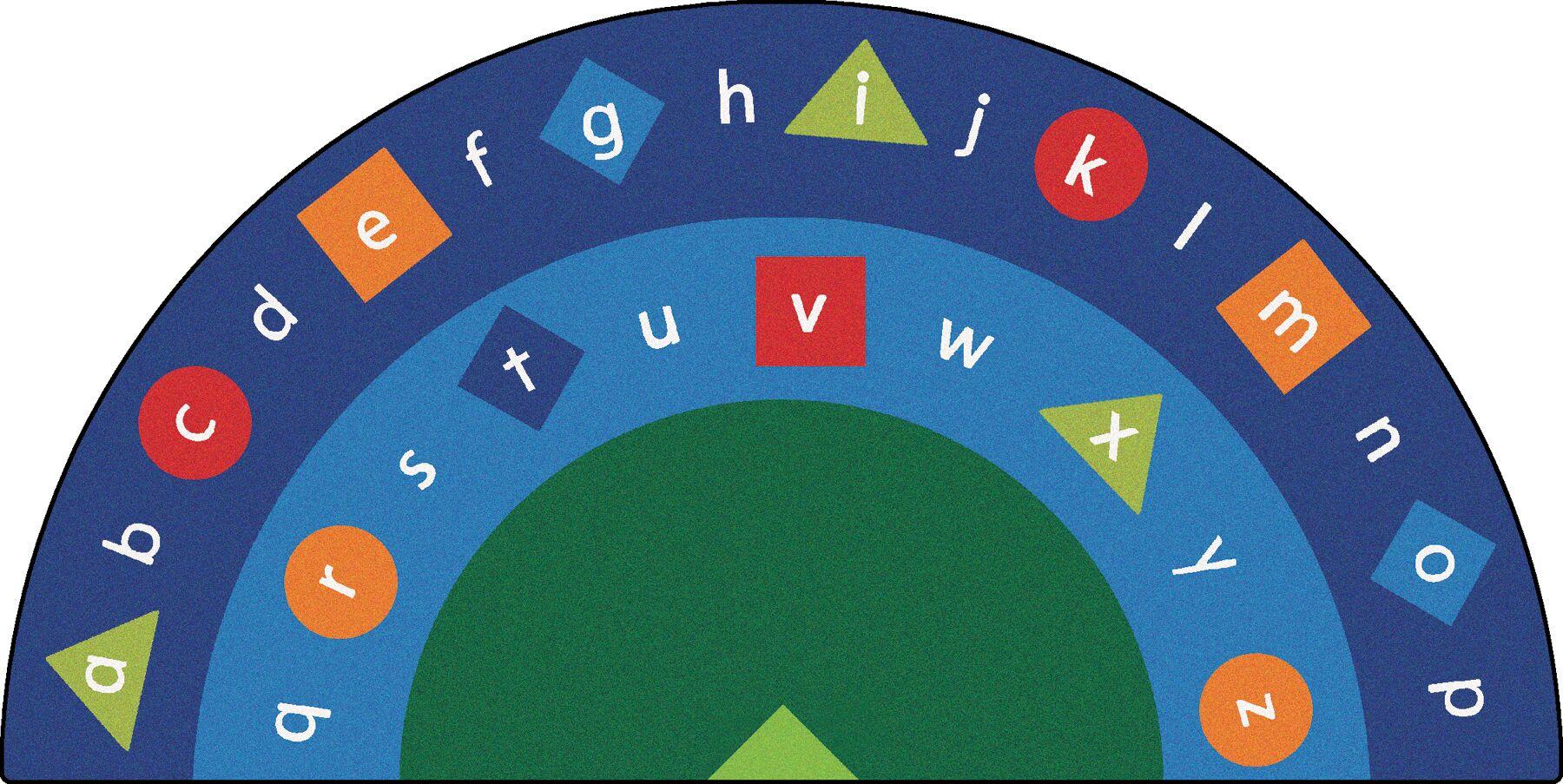 Camila Alpha Semi-Circle Alphabet Seating Kids Rug Rug Size: 6'8