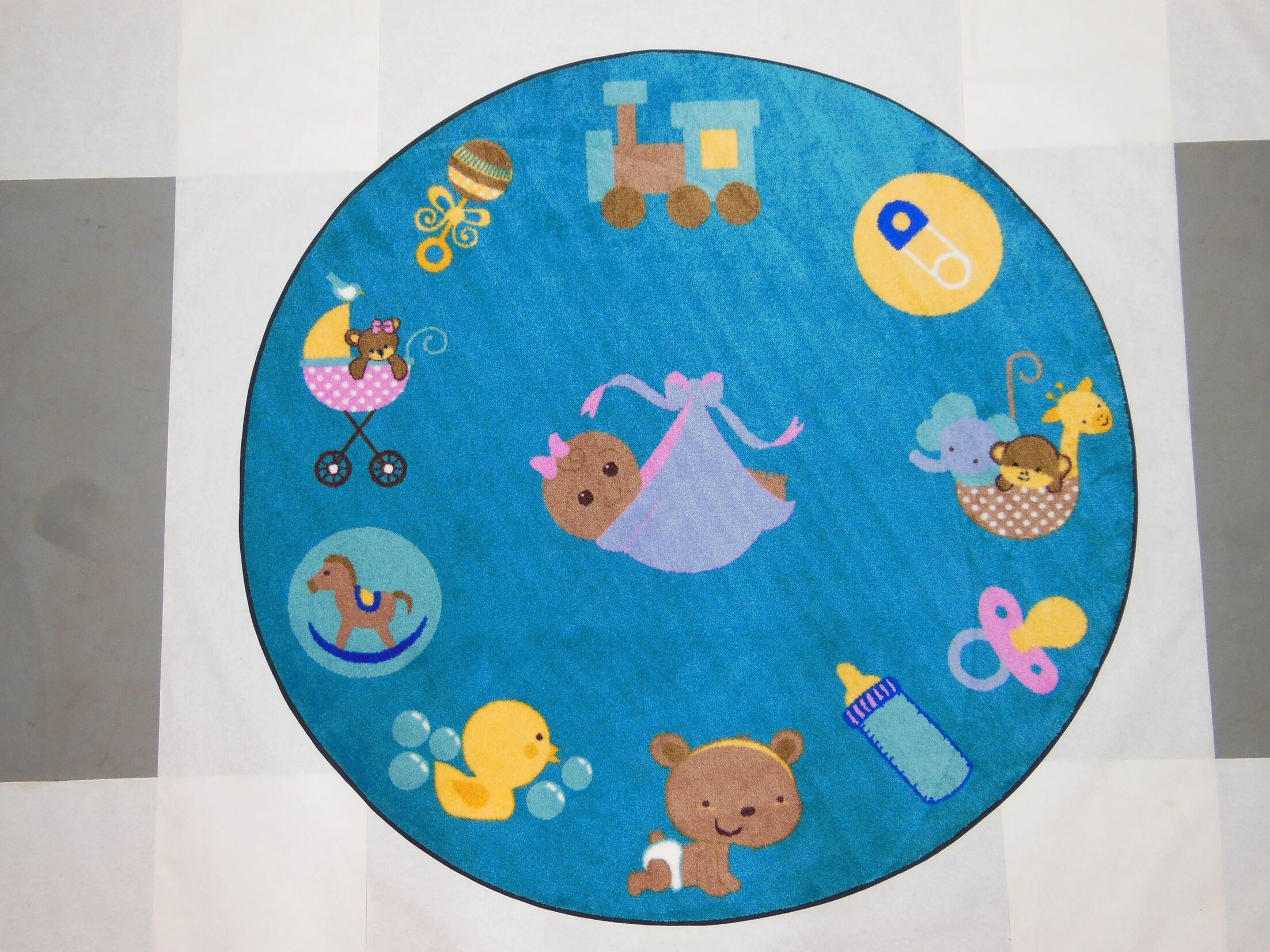 Jenson Baby Things Blue Area Rug