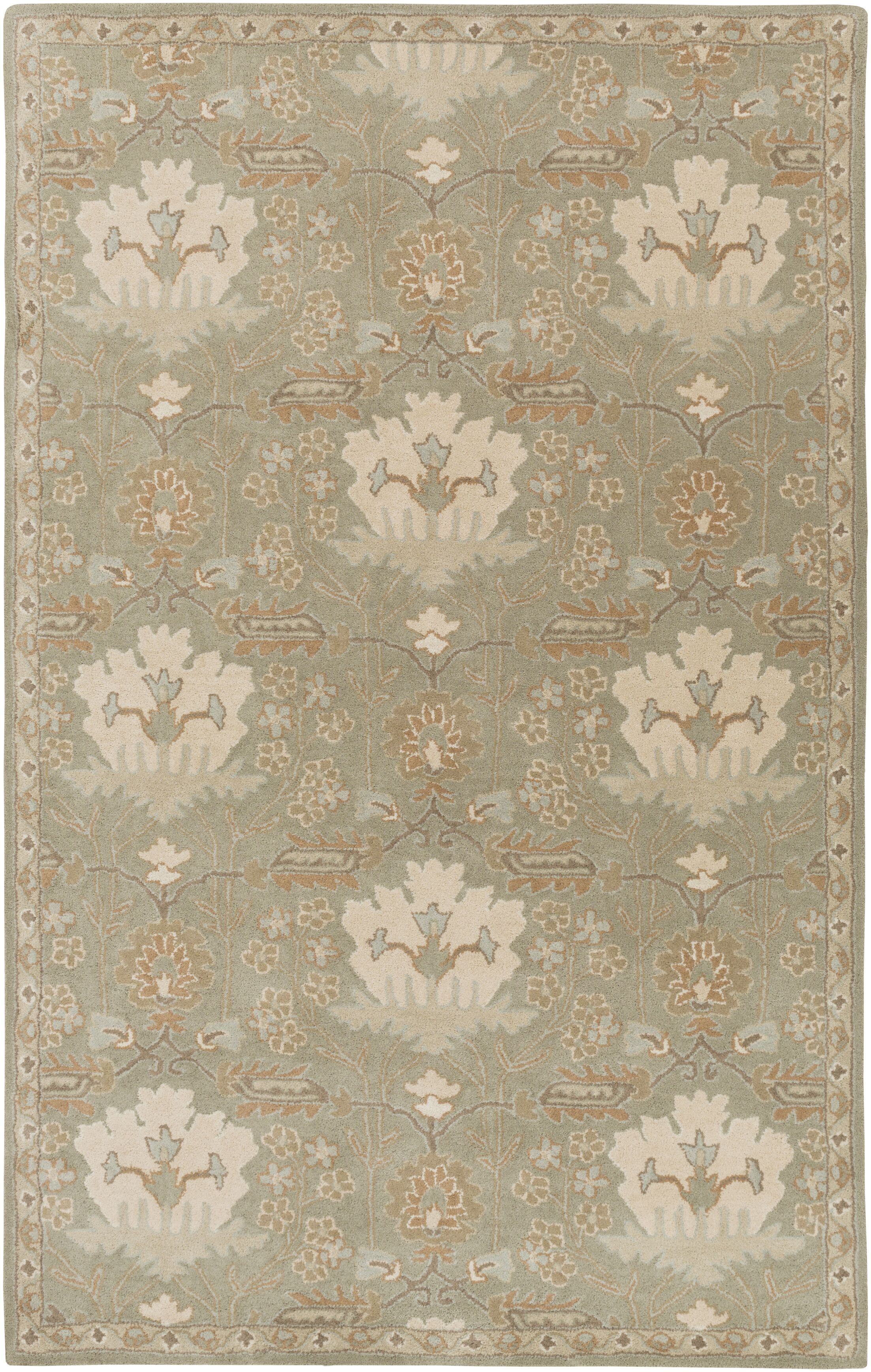 Kempinski Hand-Tufted Gray Area Rug Rug Size: Rectangle 10' x 14'