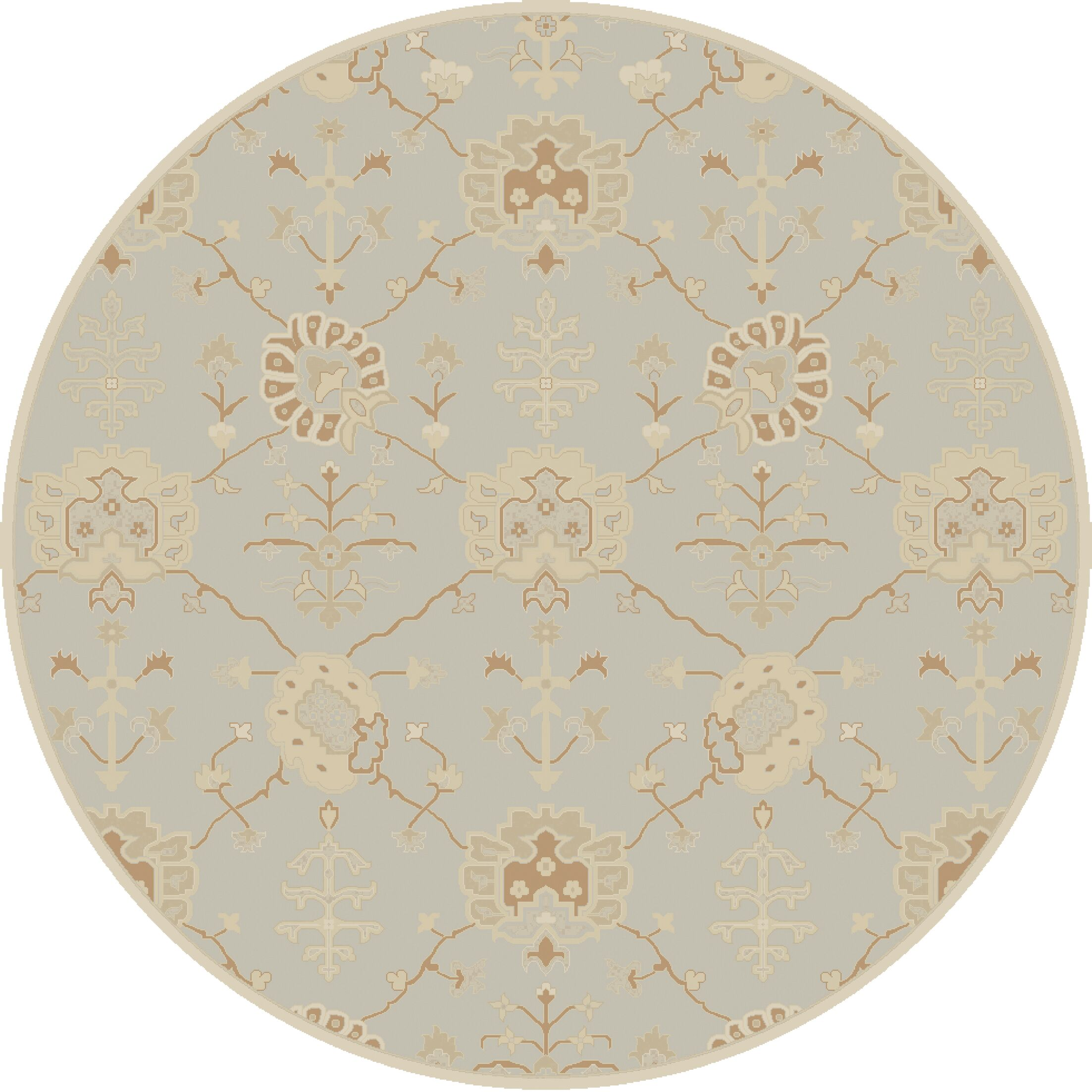 Kempinski Hand-Tufted Gray Area Rug Rug Size: Round 8'
