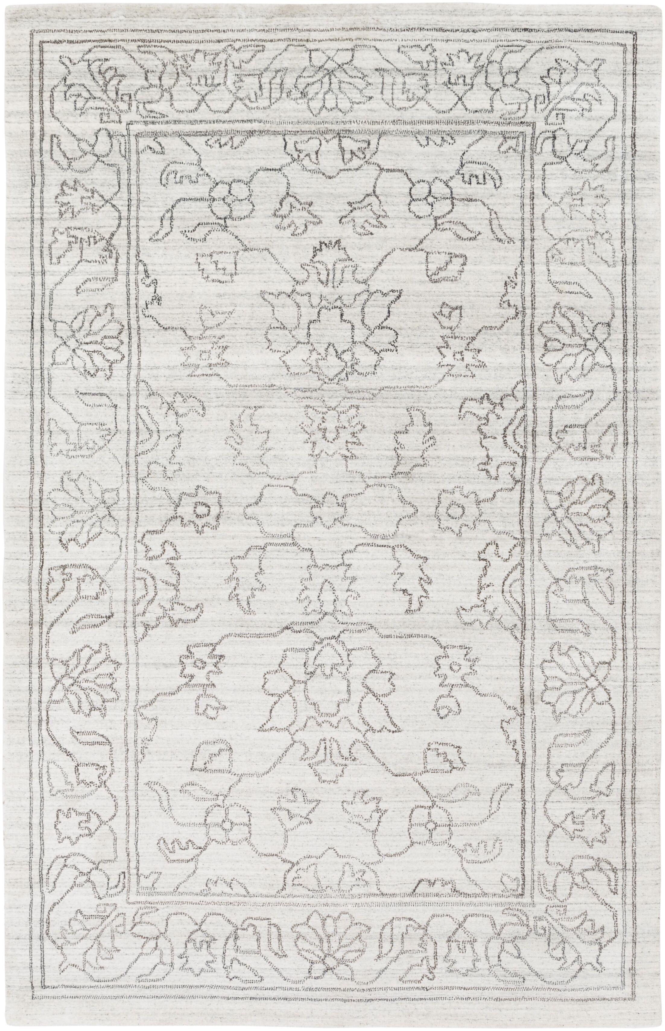 Gillian Hand-Woven Gray/Ivory Area Rug Rug Size: Rectangle 6' x 9'
