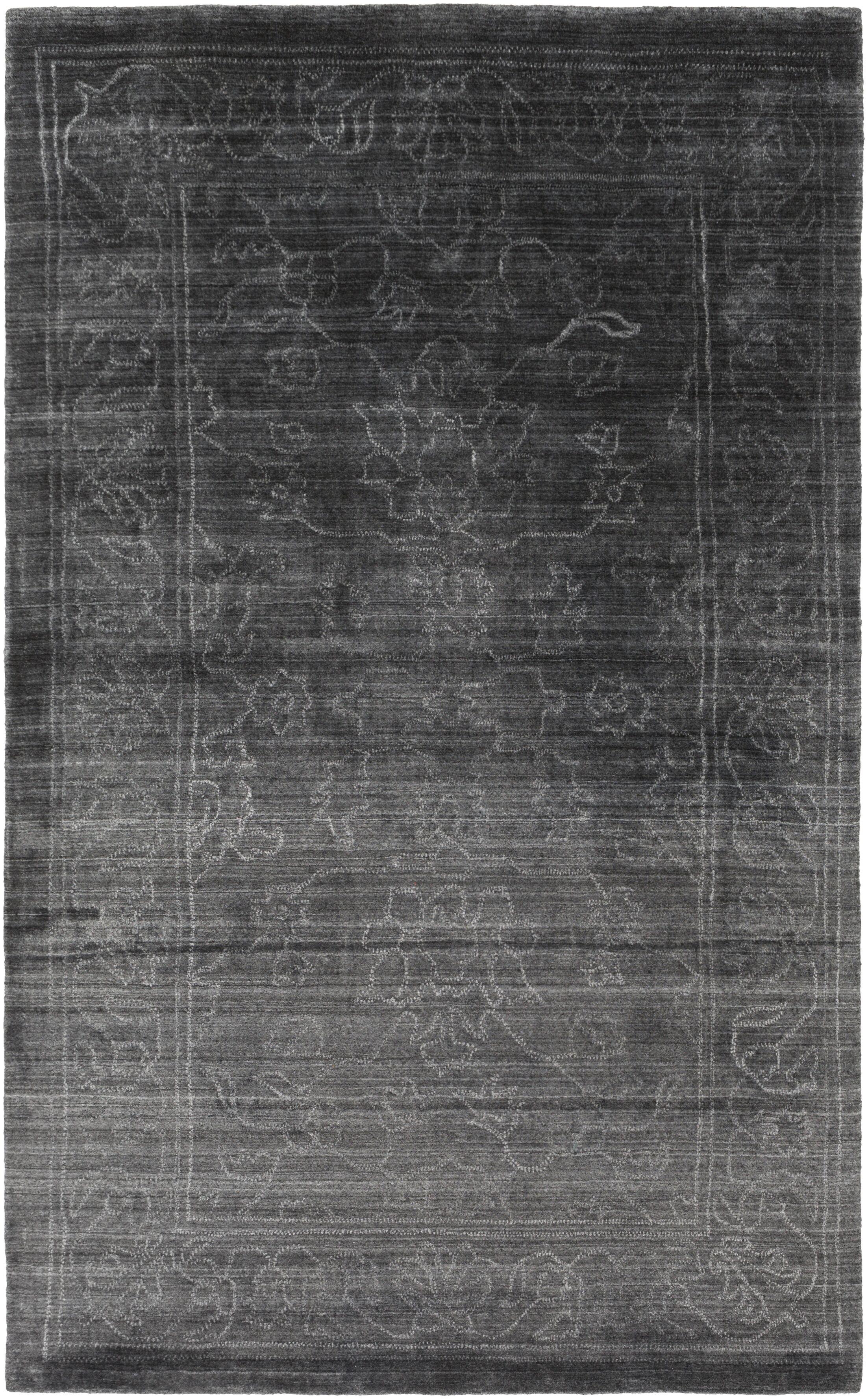 Cernobbio Hand-Woven Black Area Rug Rug Size: Rectangle 9' x 13'