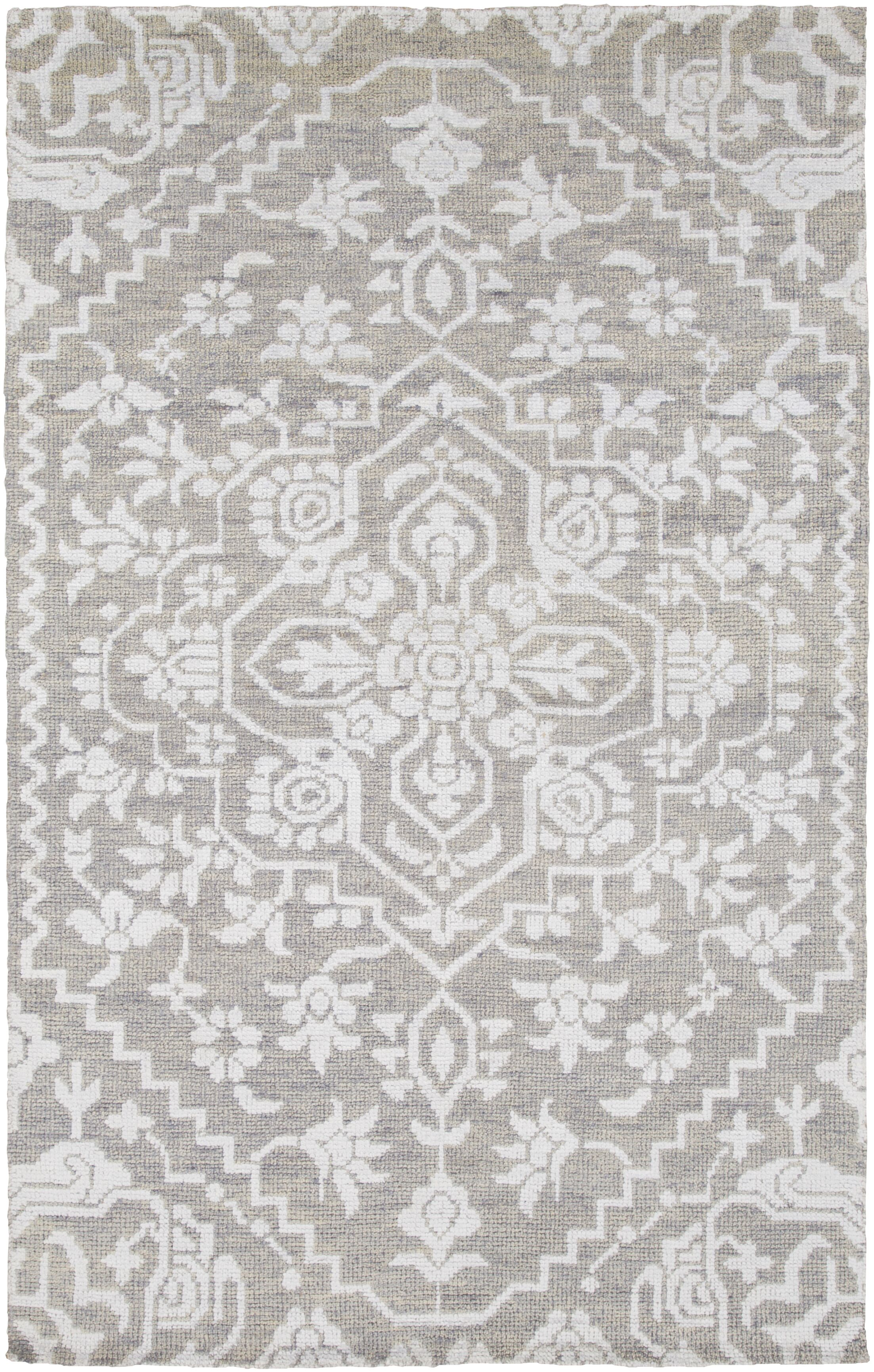 L'Ermitage Hand-Knotted Gray Area Rug Rug Size: Rectangle 8' x 10'