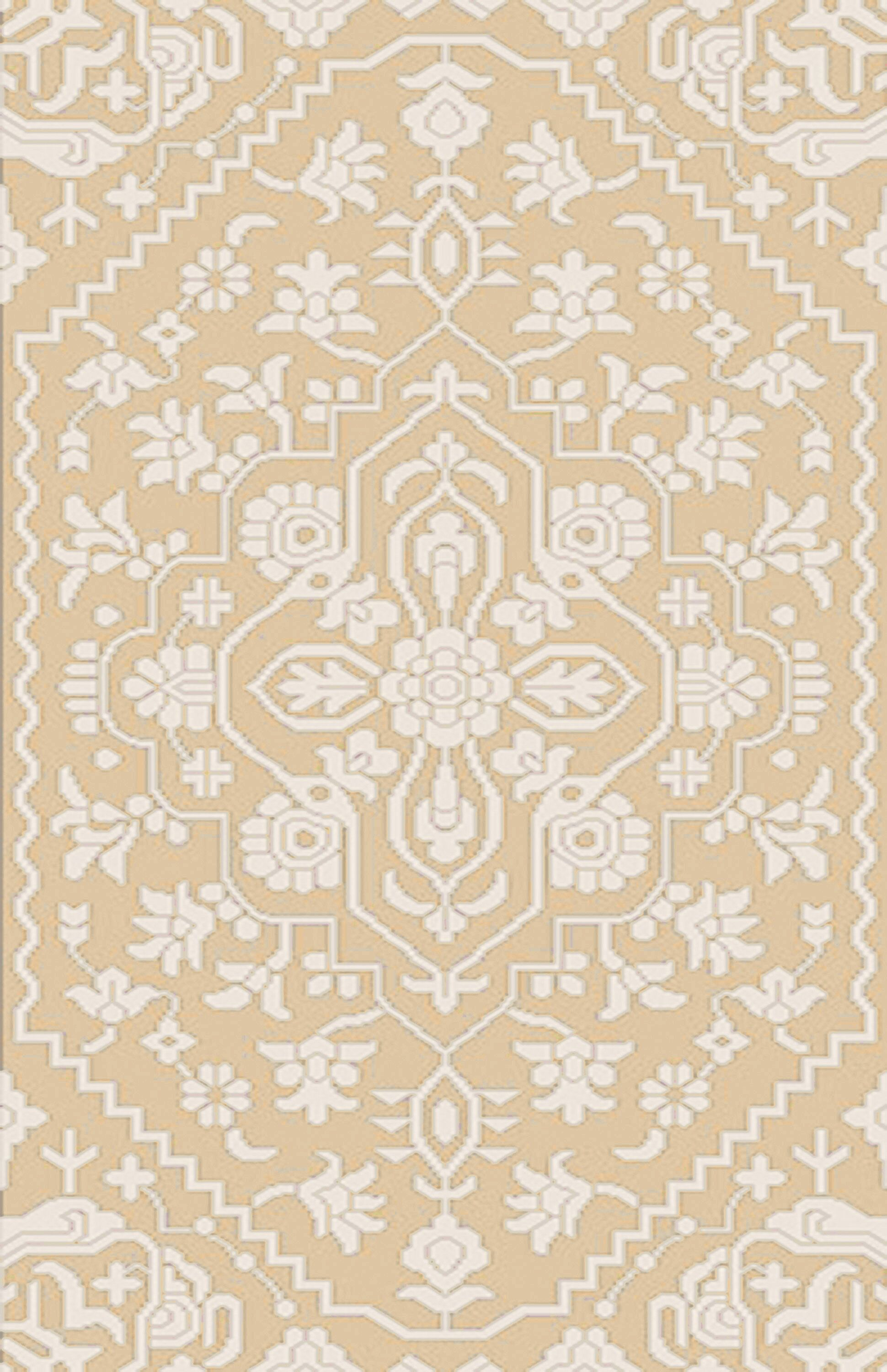 L'Ermitage Hand-Knotted Beige Area Rug Rug Size: Rectangle 9' x 12'