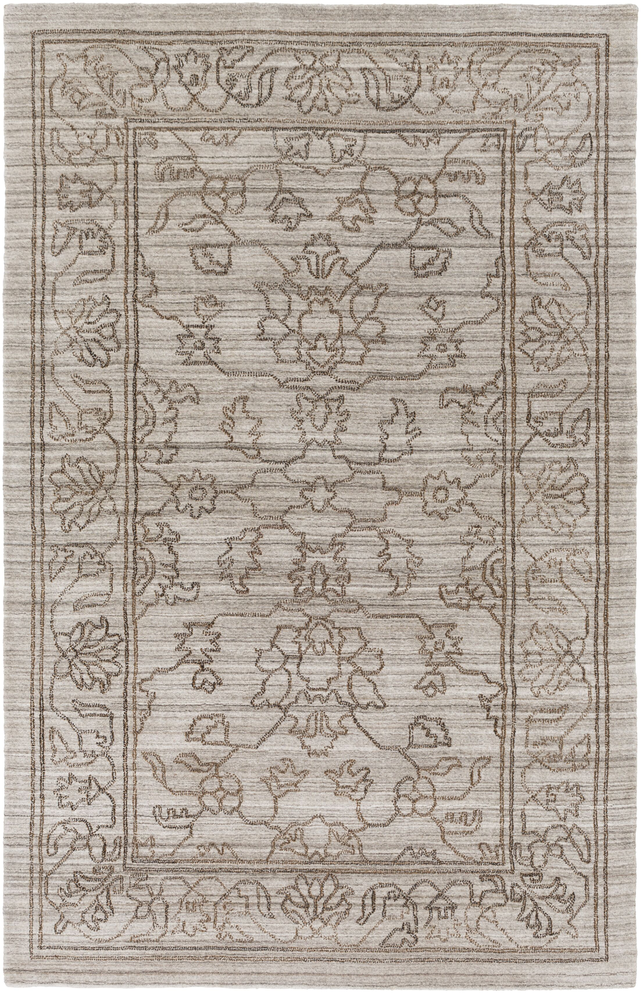 Cernobbio Hand-Woven Gray Area Rug Rug Size: Rectangle 9' x 13'