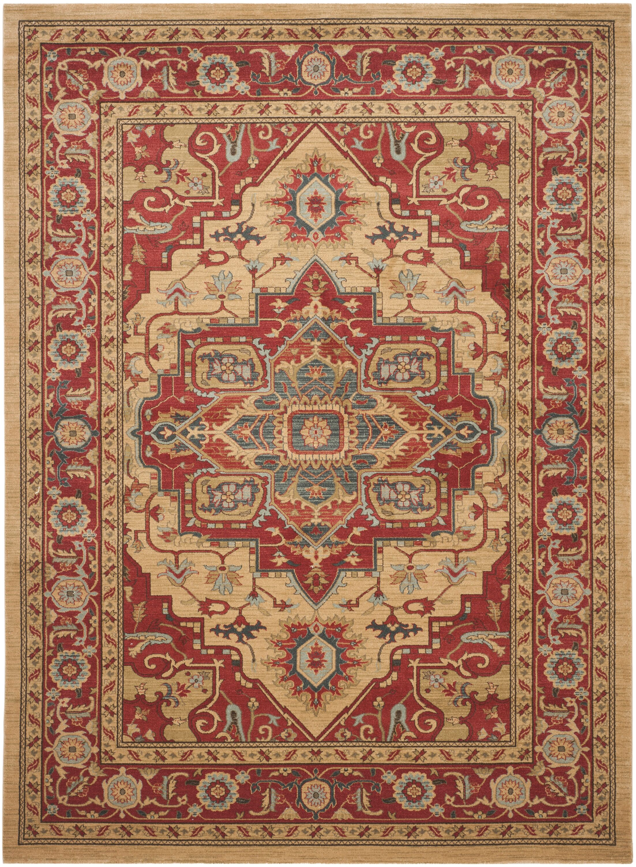 Clarion Red Area Rug Rug Size: Rectangle 8' x 11'