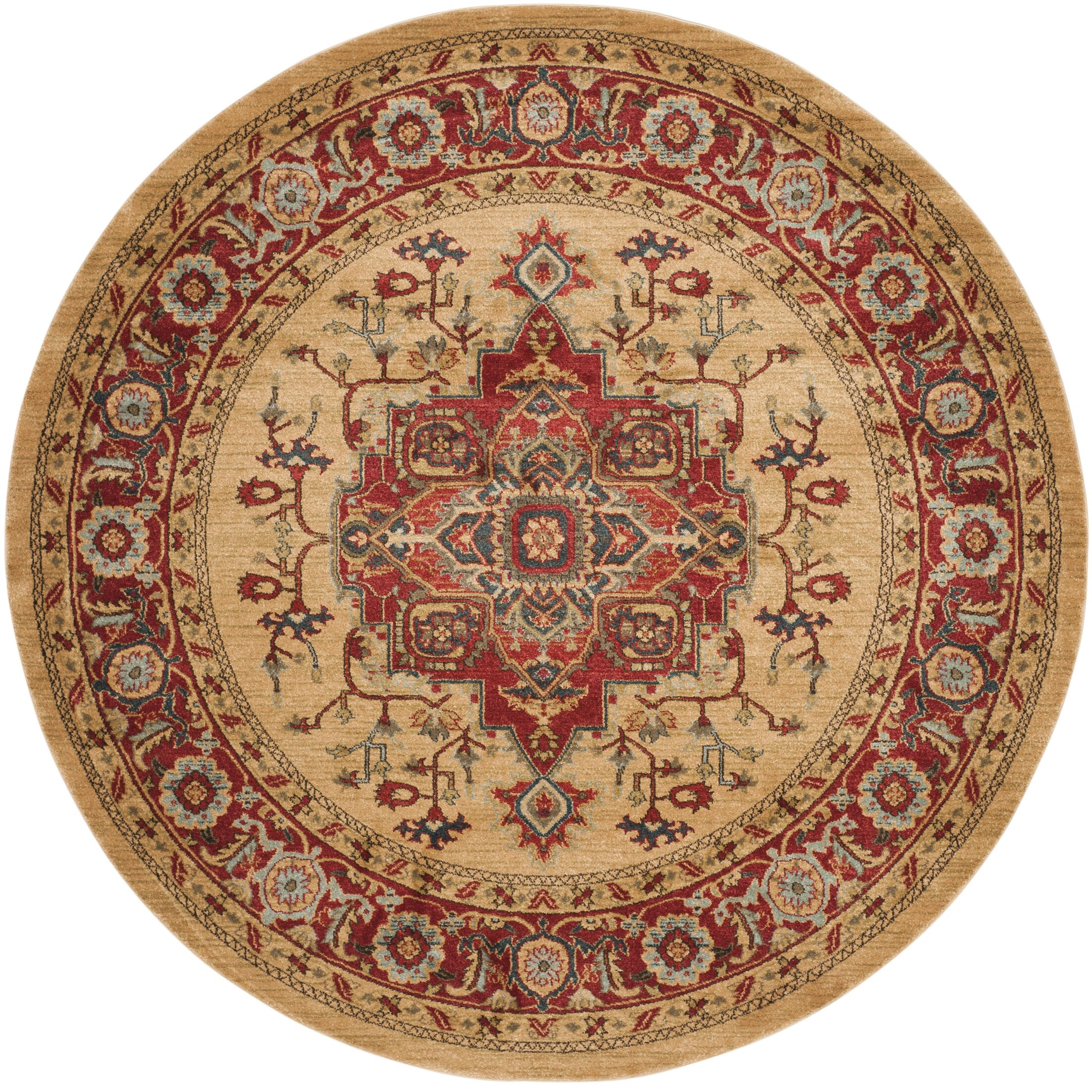 Clarion Red Area Rug Rug Size: Round 9' x 9'