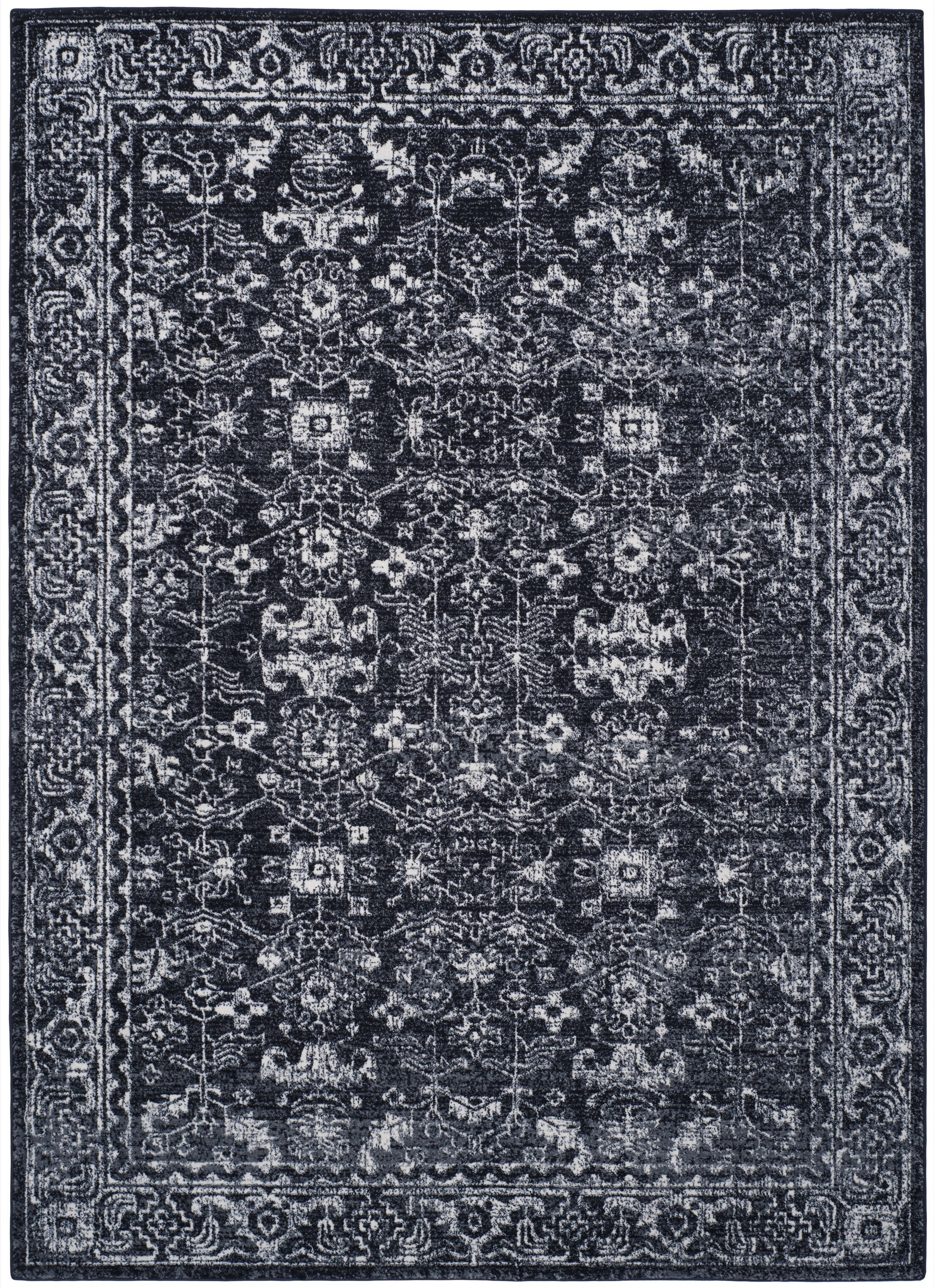 Bellagio Charcoal/Ivory Area Rug Rug Size: Rectangle 10' x 14'