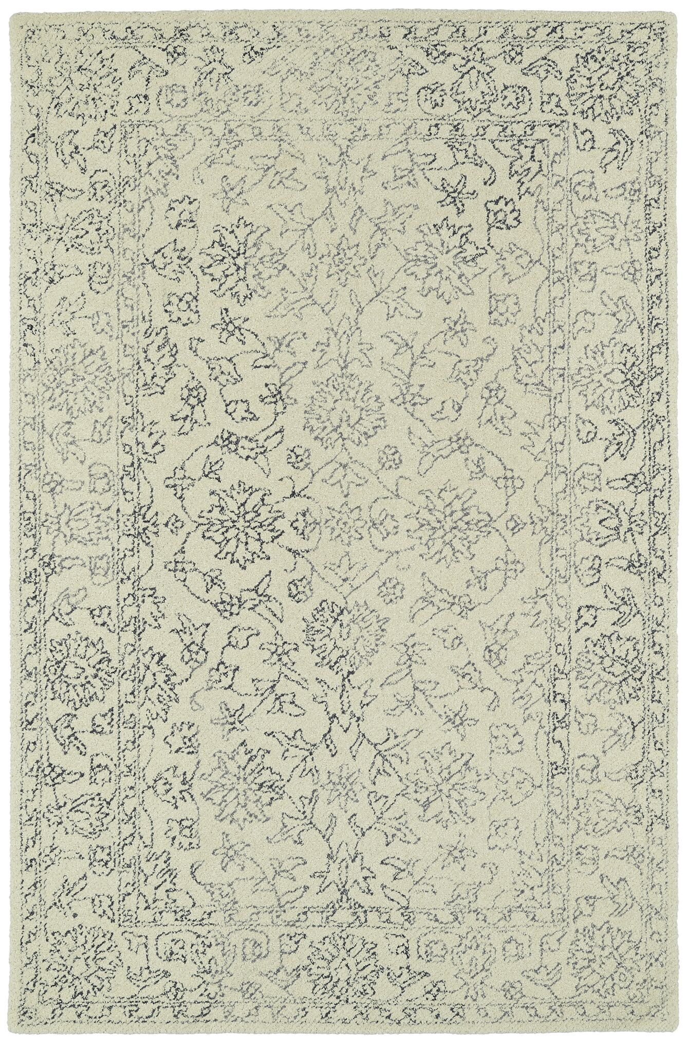 Eugene Hand-Tufted Beige Area Rug Rug Size: Rectangle 9' x 12'