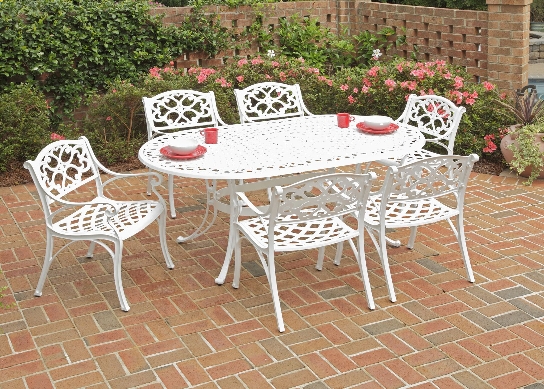 Bodrum 7 Piece Oval Dining Table Set