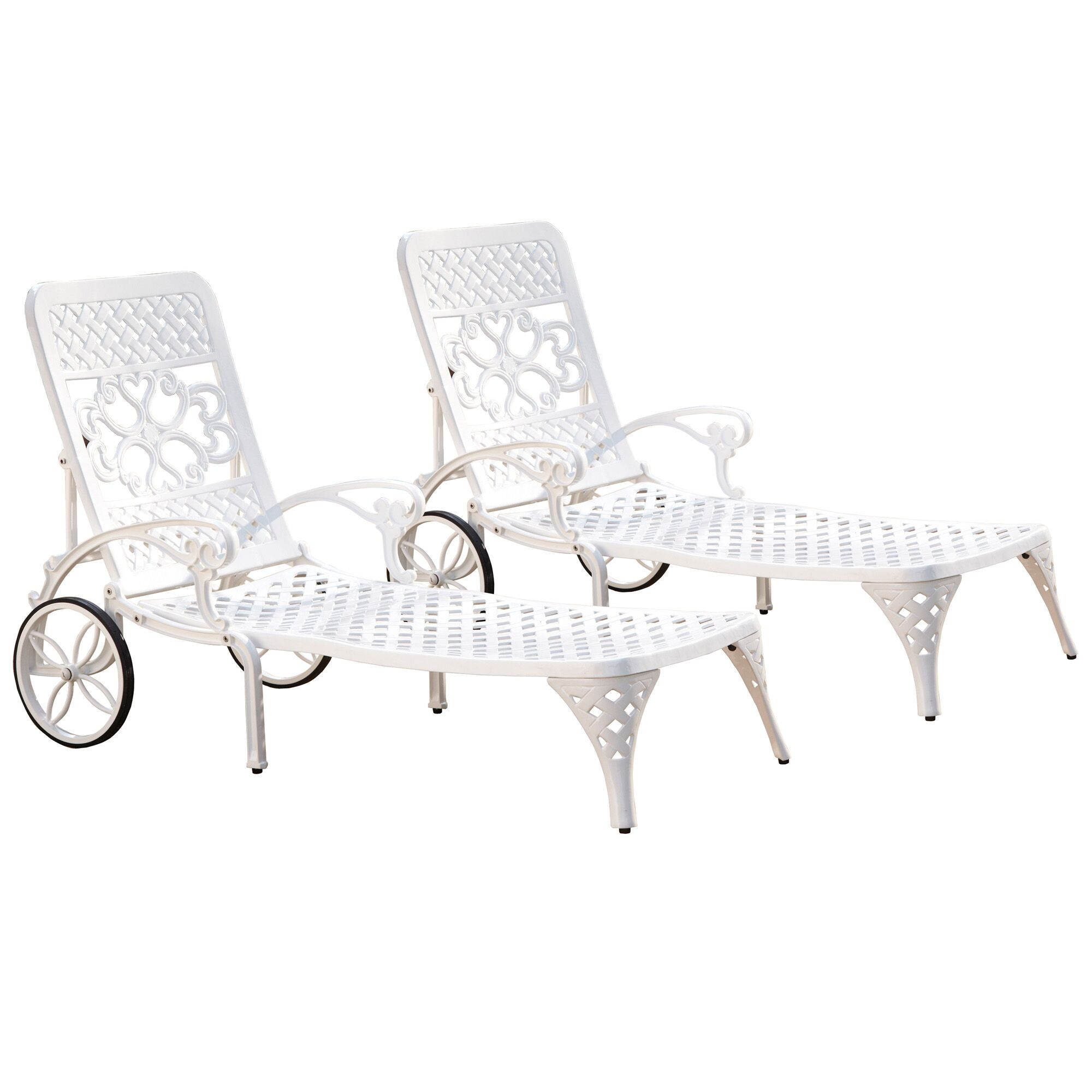 Van Glider Chaise Lounge Color: White
