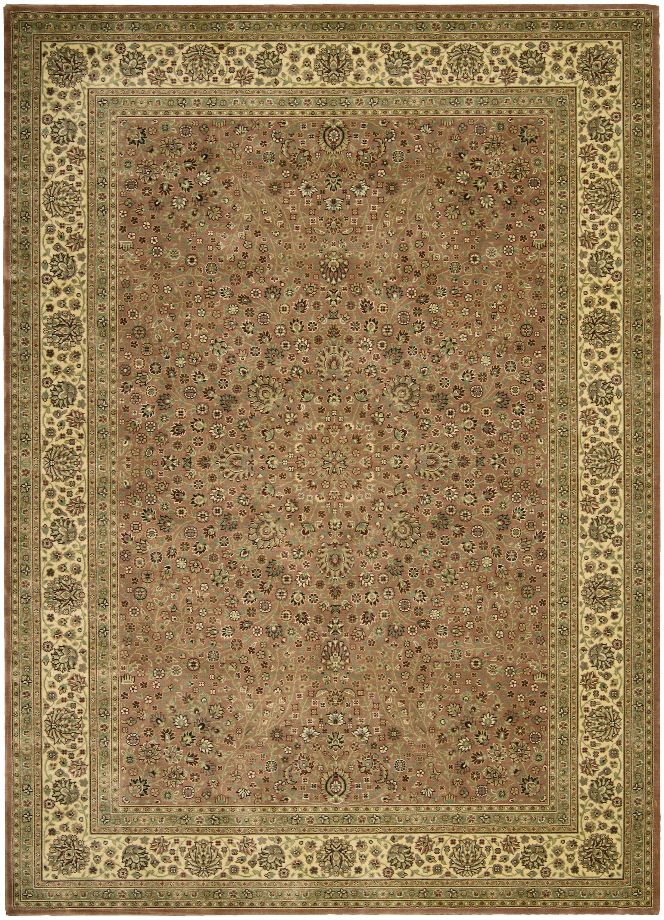 Olevia Persian Coffee Area Rug Rug Size: Rectangle 12' x 13'4