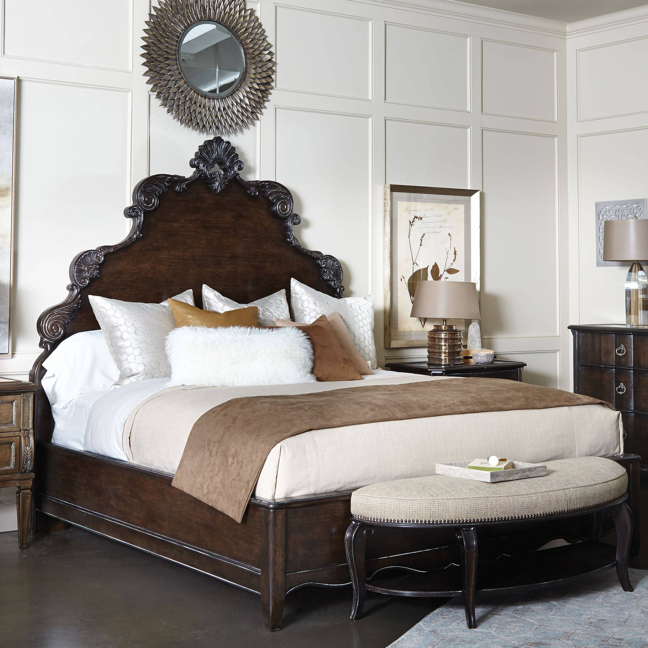Sofitel Panel Bed Color: Nutmeg, Size: Queen
