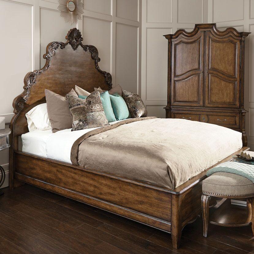Sofitel Panel Bed Size: King, Color: Melange