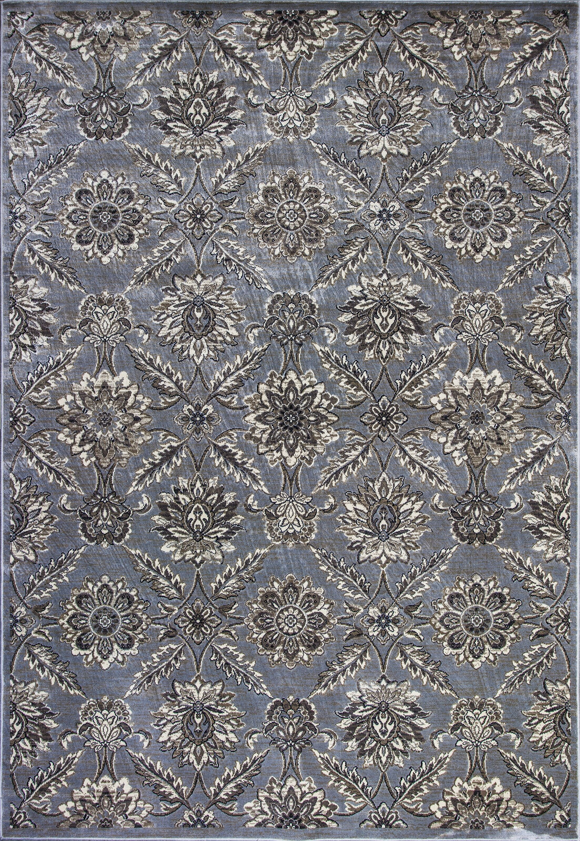 Palmilla Silver Area Rug Rug Size: 5'3