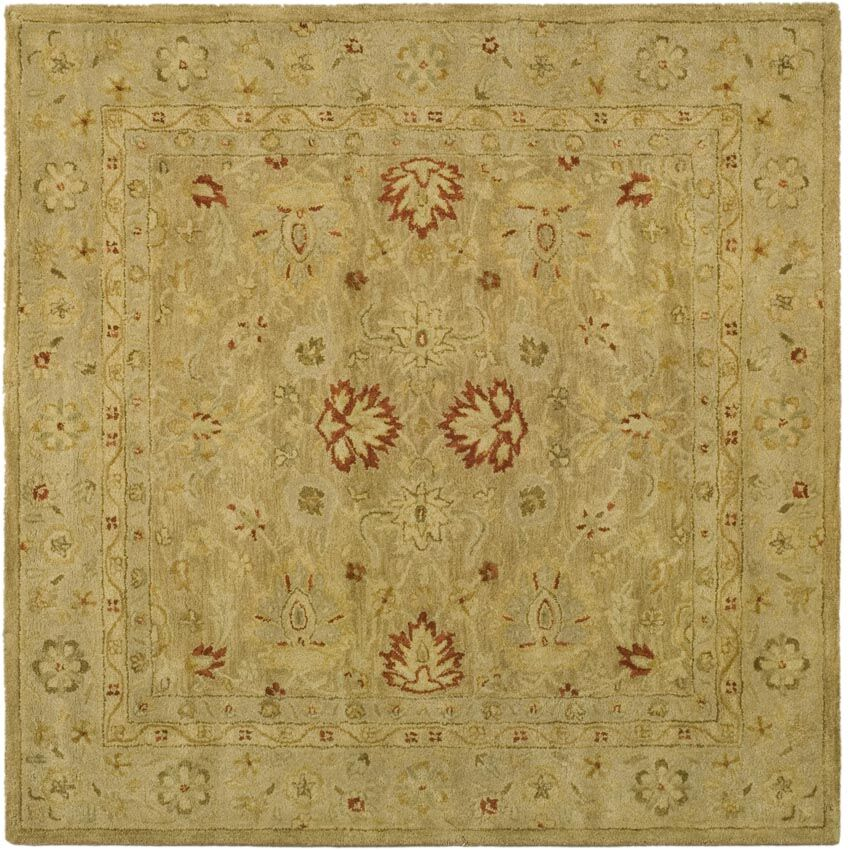 Rayna Brown/Beige Area Rug Rug Size: Square 6'