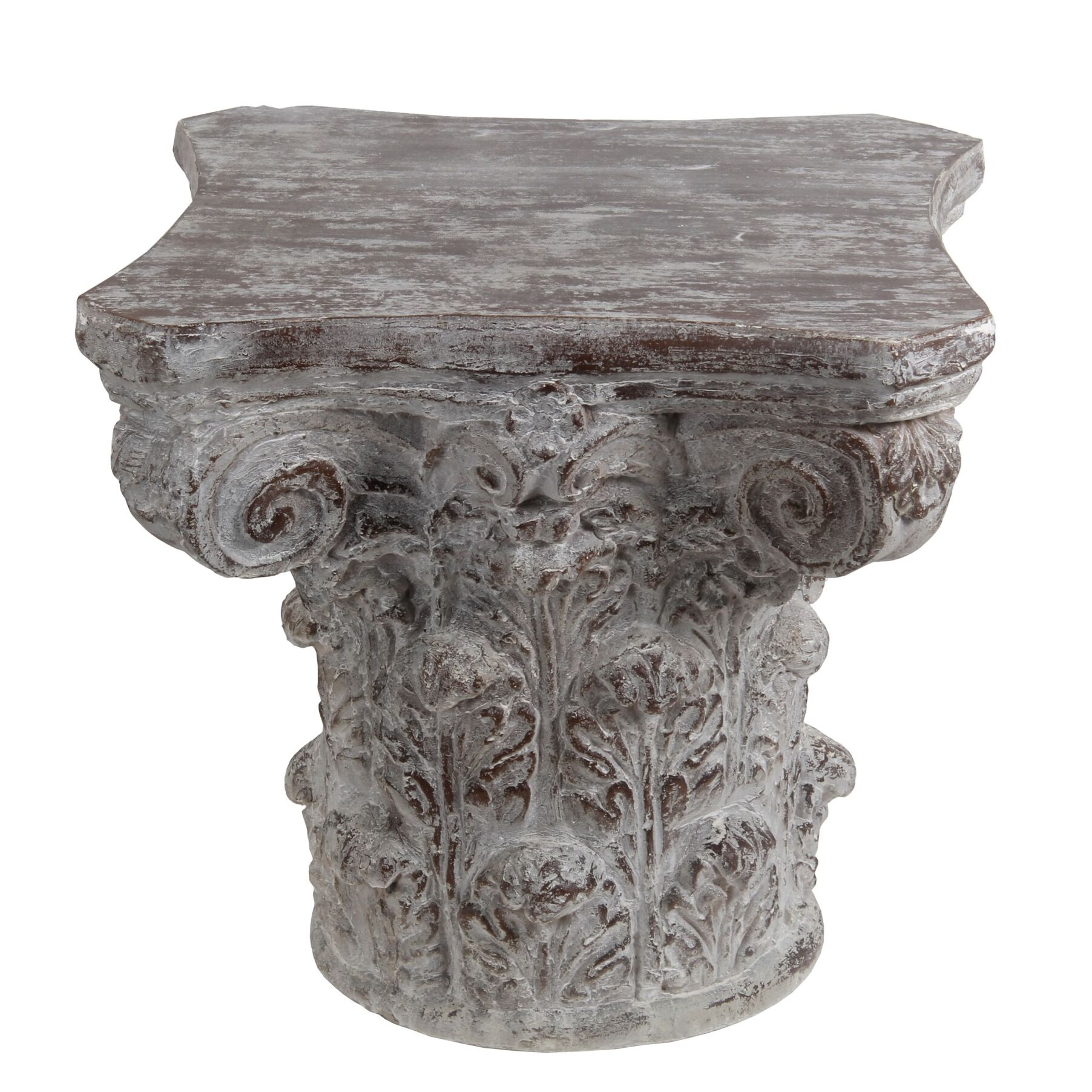 Ayward End Table Color: Stone Gray