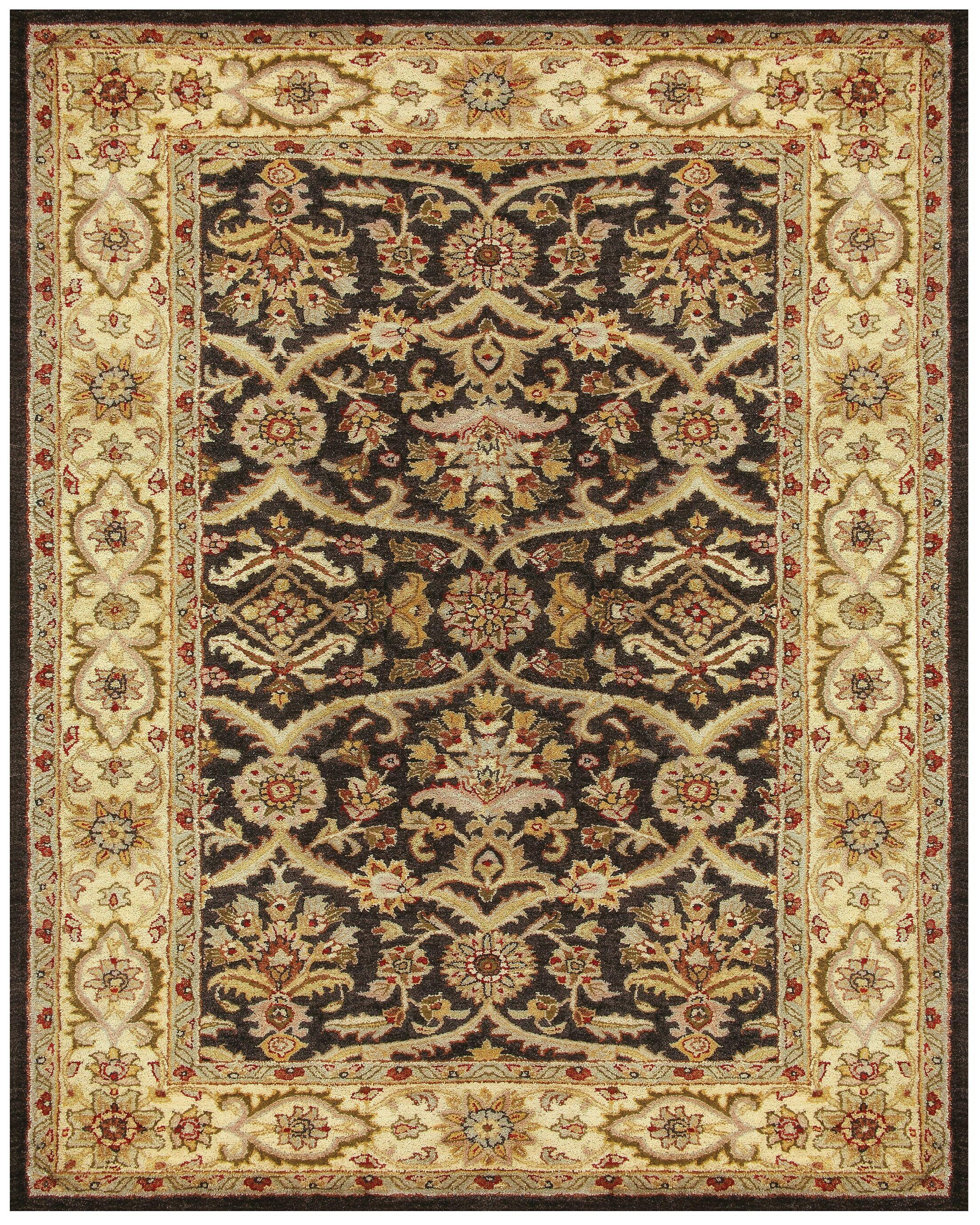 Bavis Brown Area Rug Rug Size: Rectangle 5' x 8'