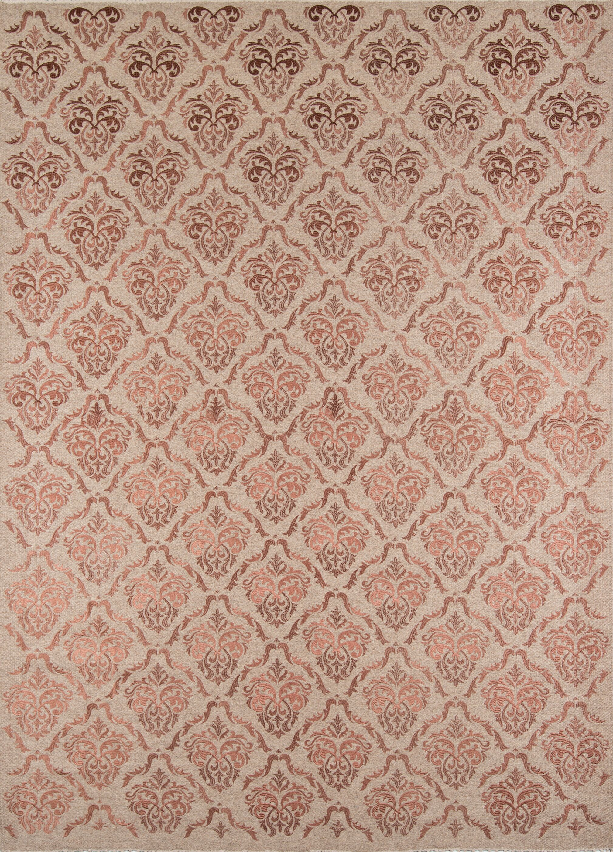 Caspian Hand-Woven Rose Area Rug Rug Size: Rectangle 5' x 8'