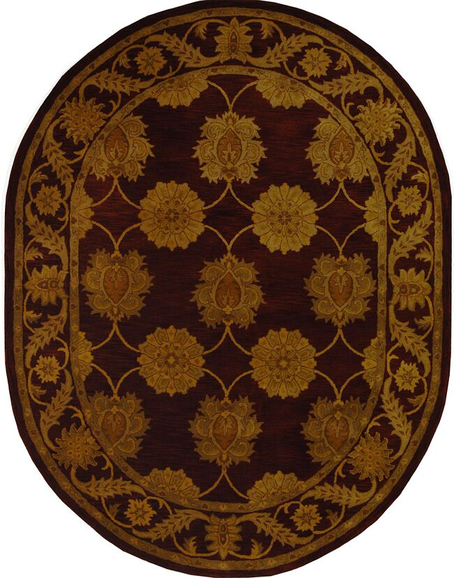 Balthrop Maroon Area Rug Rug Size: Rectangle 8'3
