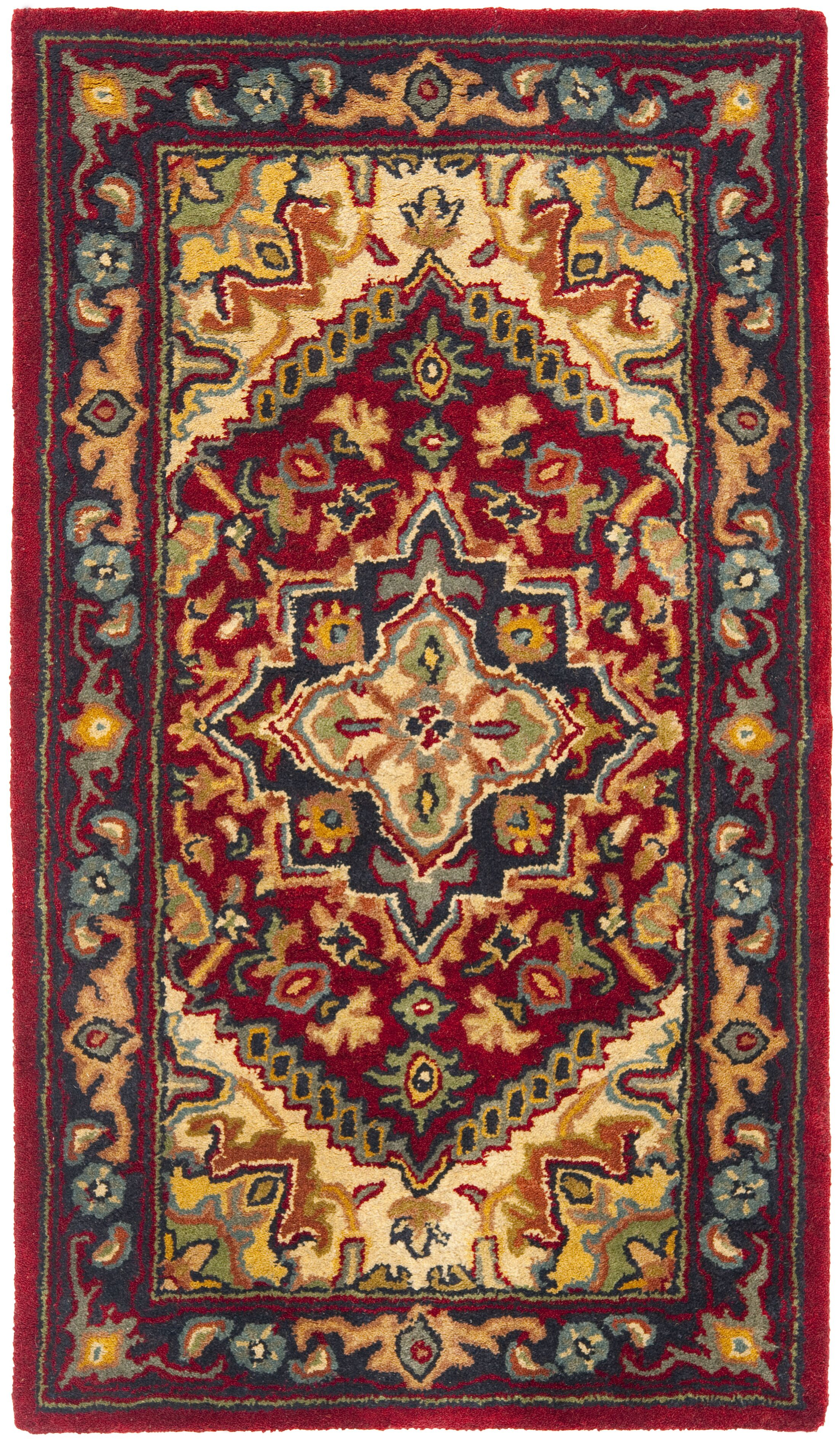 Balthrop Red Oriental Area Rug Rug Size: Rectangle 3' x 5'