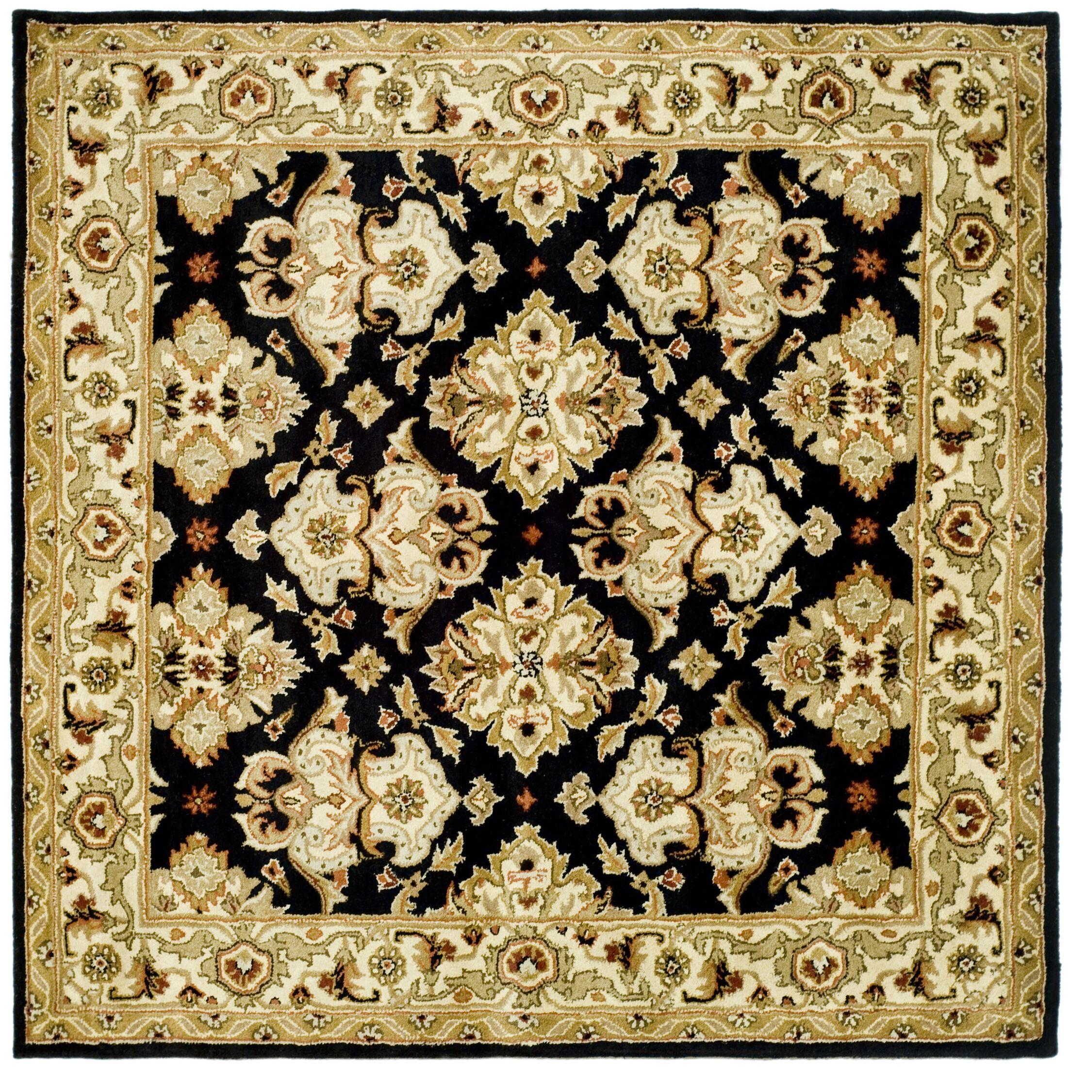 Balthrop Black/Ivory Area Rug Rug Size: Square 8'