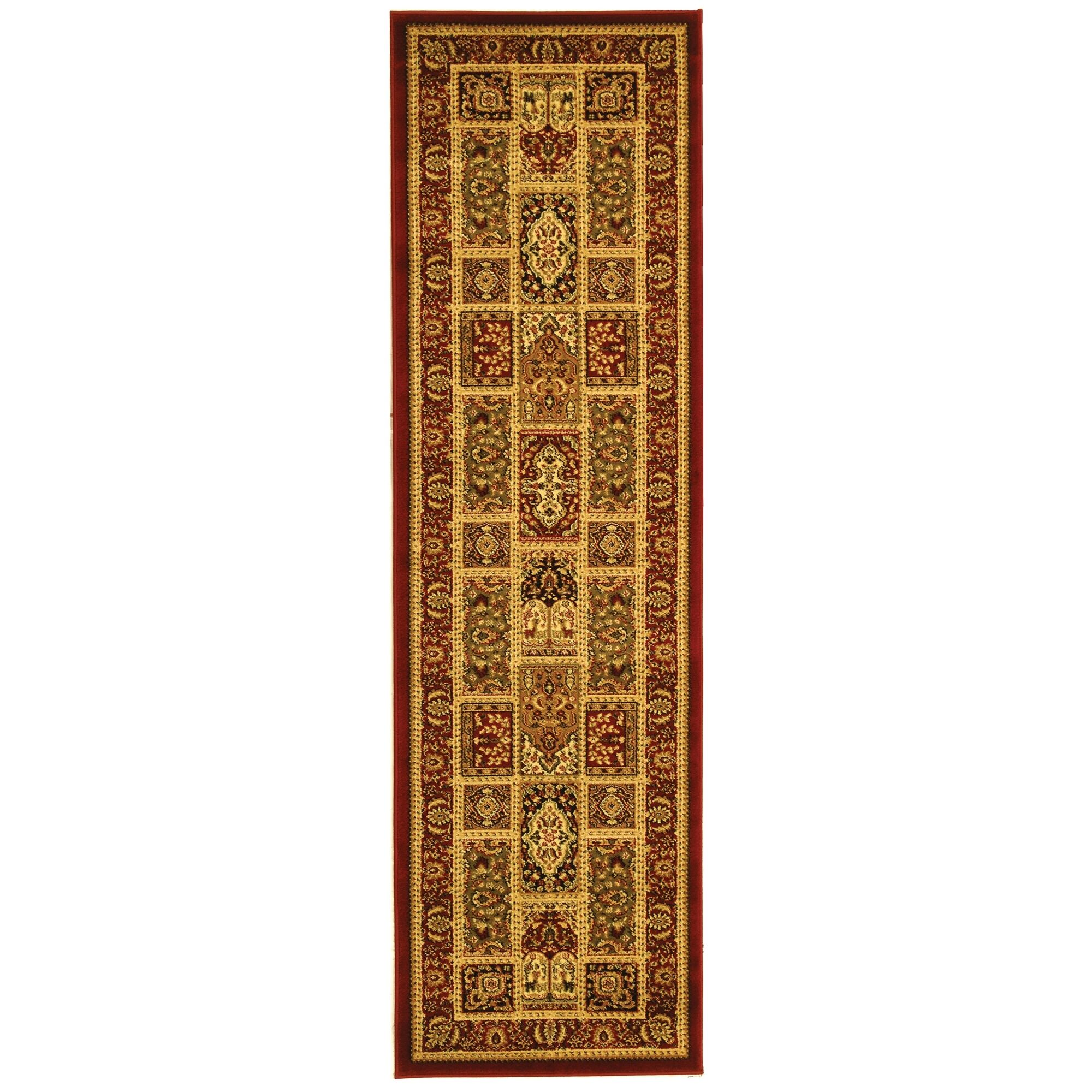 Barton Red Area Rug Rug Size: Runner 2'3