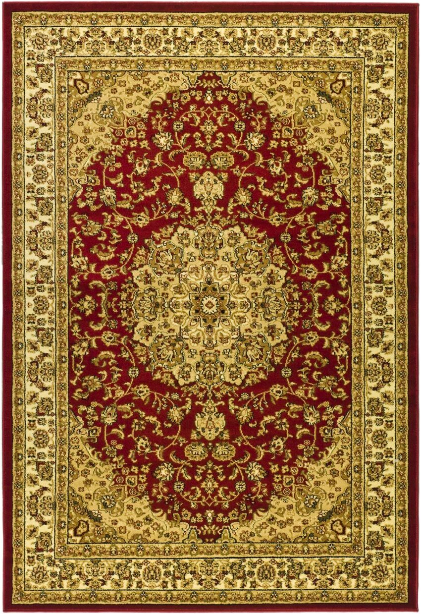 Barton Red/Ivory Rug Rug Size: Rectangle 4' x 6'