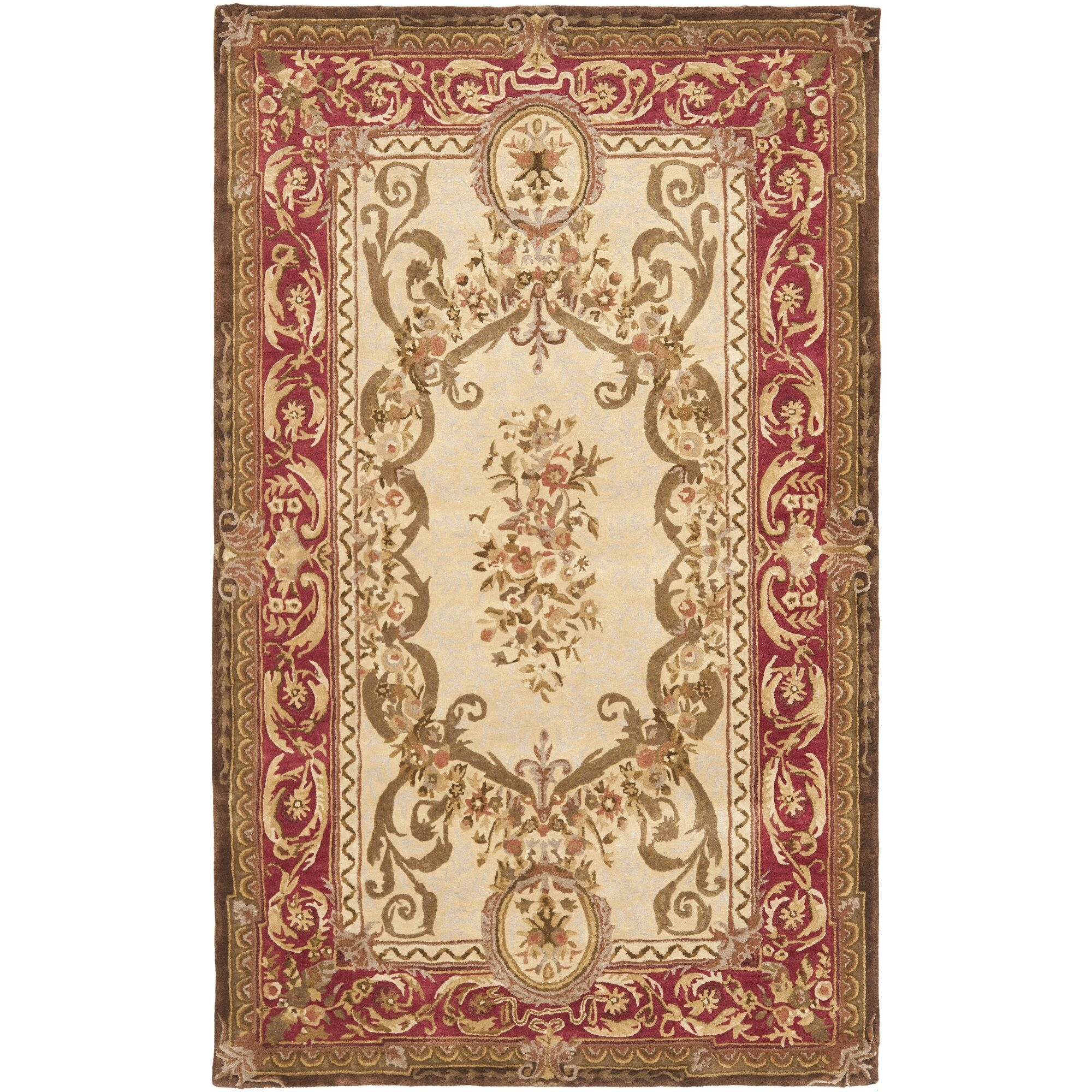 Loren Gold/Red Area Rug Rug Size: Rectangle 4' x 6'