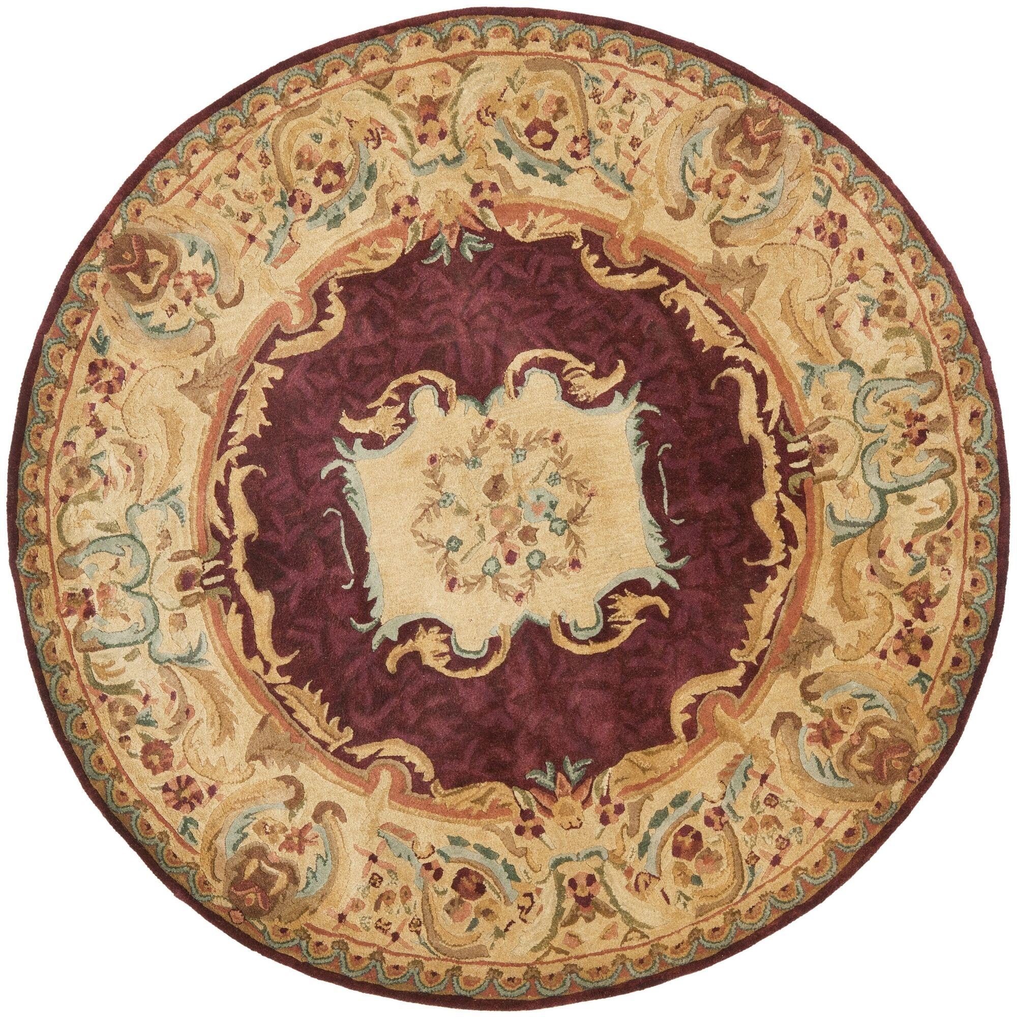 Loren Gold Area Rug Rug Size: Round 6'