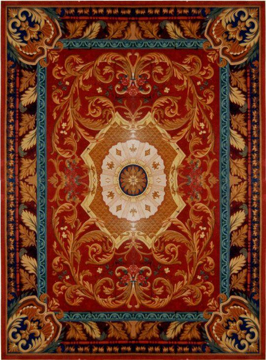 Loren Red/Burgundy Rug Rug Size: Rectangle 7'6