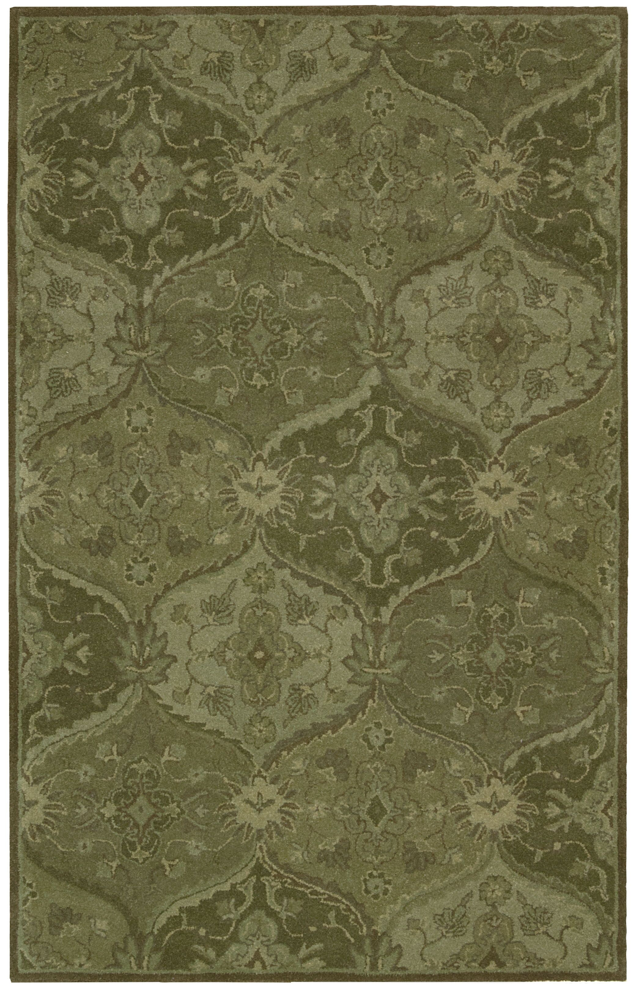 Barrick Hand-Tufted Green Area Rug Rug Size: Rectangle 3'6