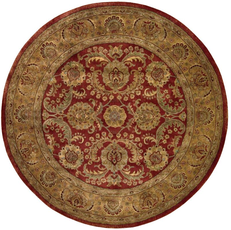 Bassham Area Rug Rug Size: Round 8'
