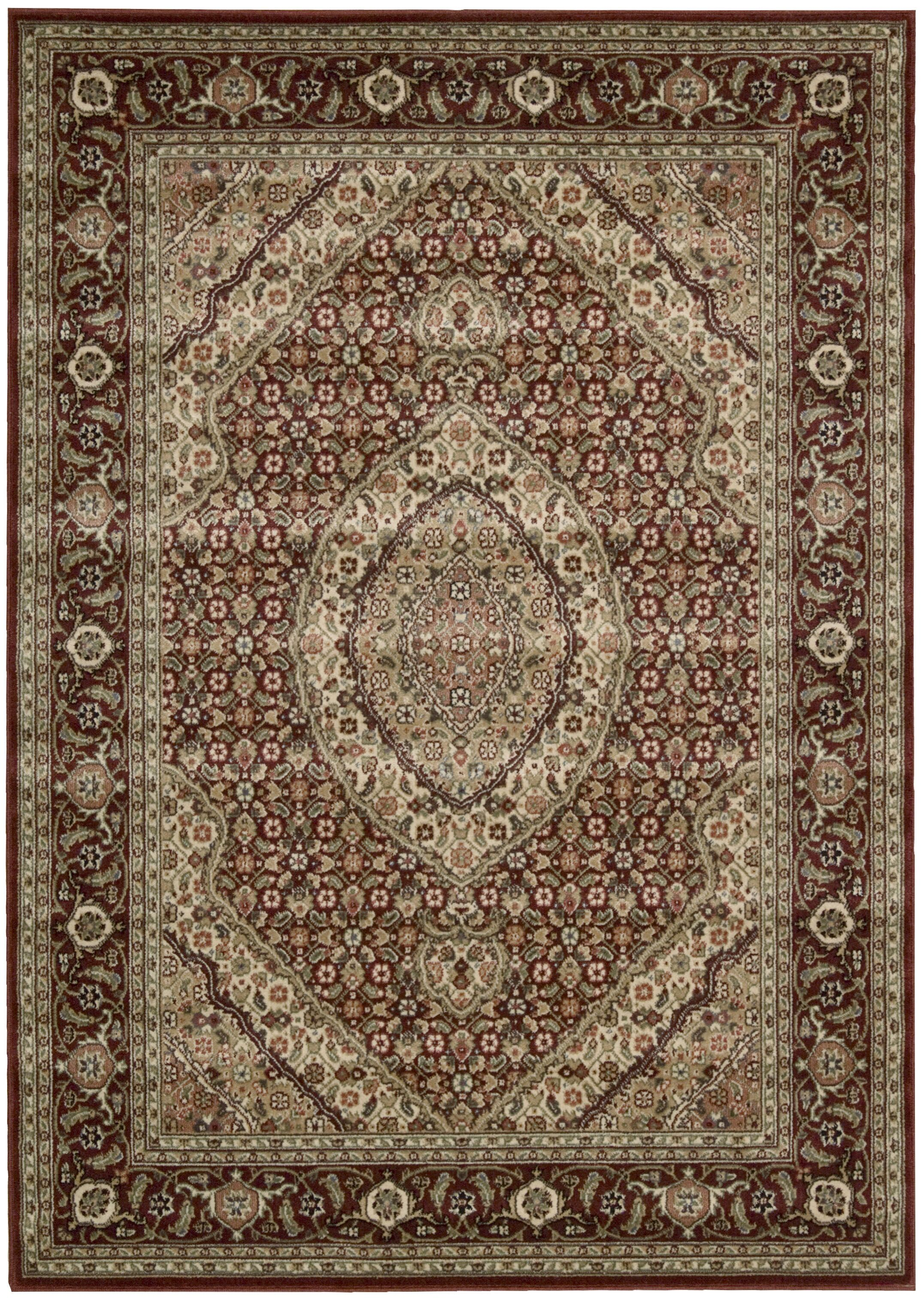 Bayhills Brick/Brown Area Rug Rug Size: Rectangle 7'9