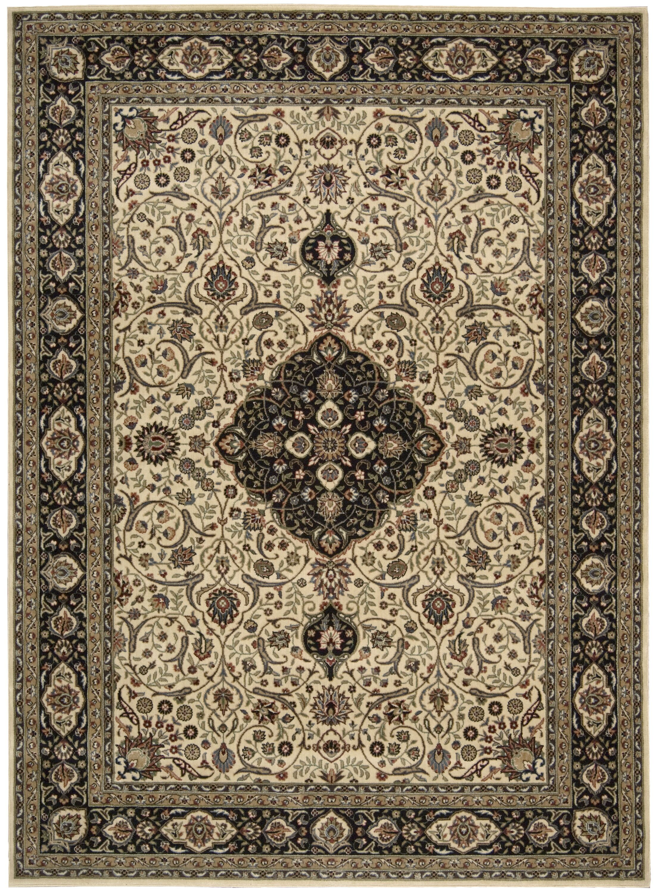 Bayhills Blue/Ivory Area Rug Rug Size: Rectangle 5'3