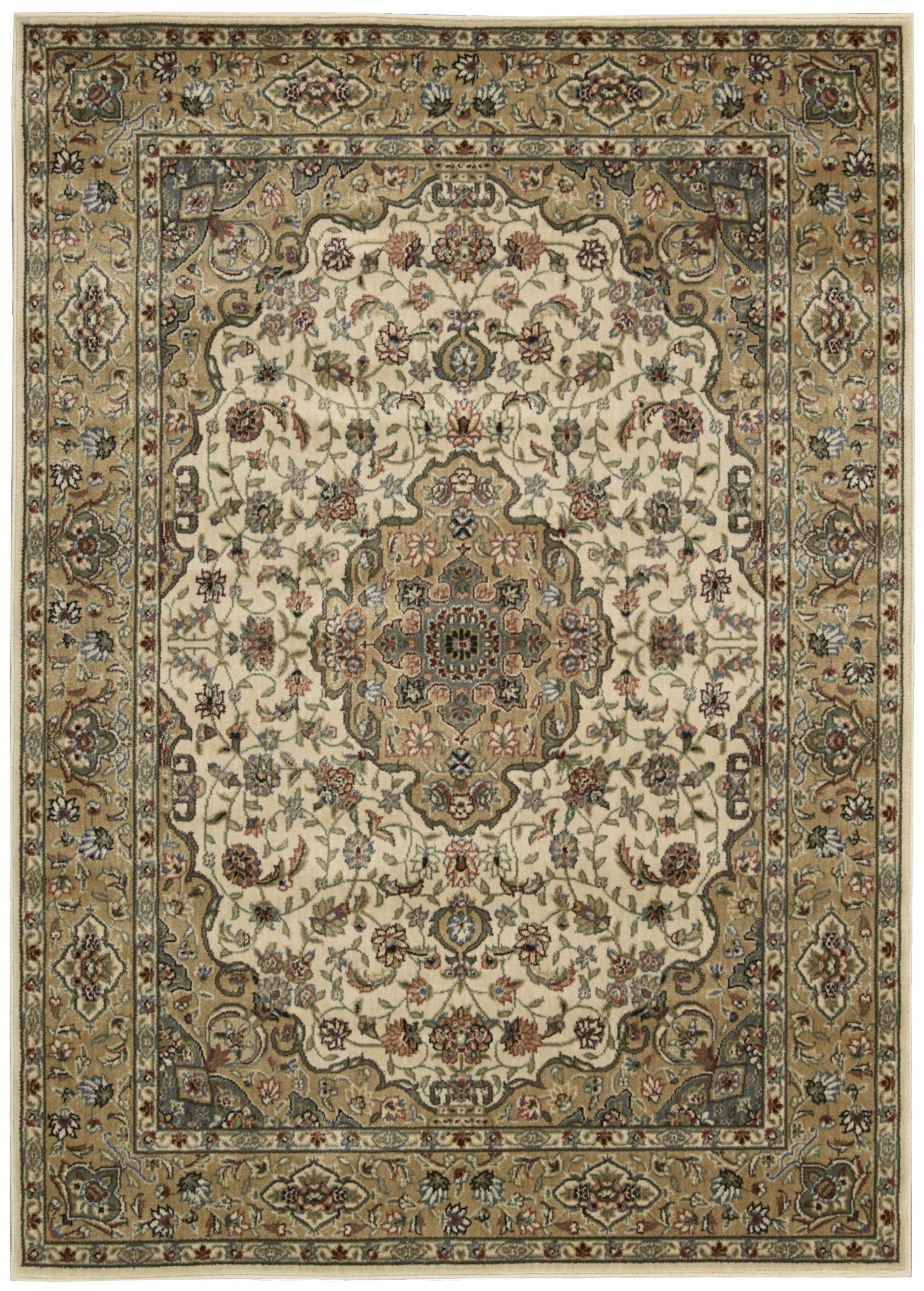 Bayhills Ivory/Gold Area Rug Rug Size: Rectangle 3'6