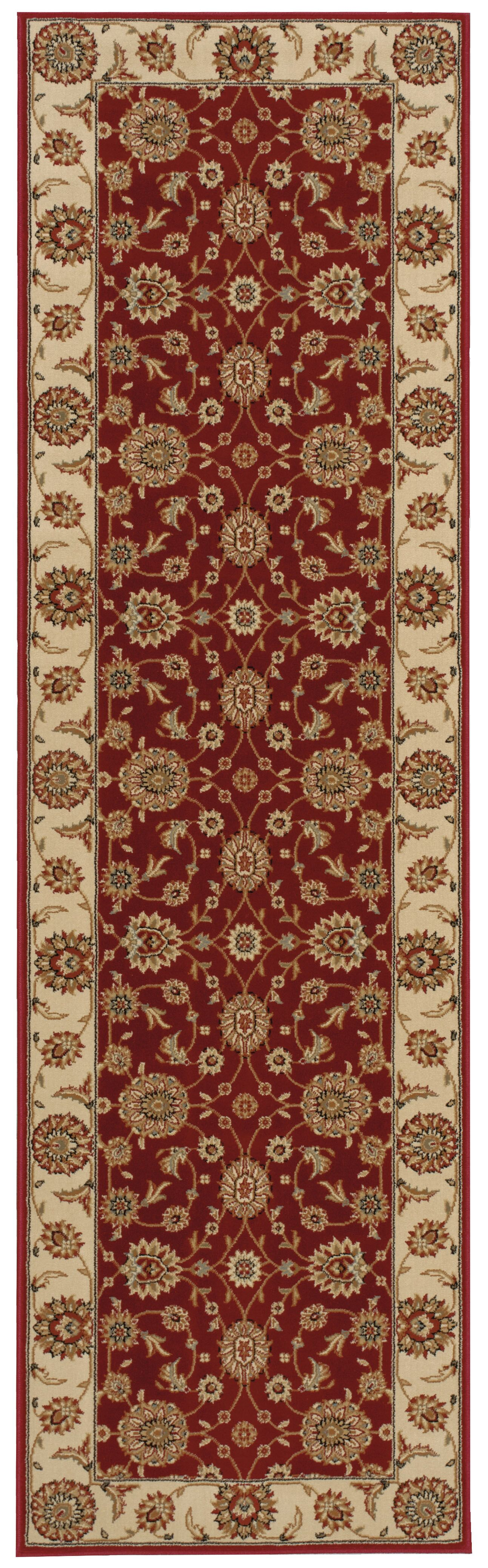 Baye Red/Ivory Area Rug Rug Size: Rectangle 7'10