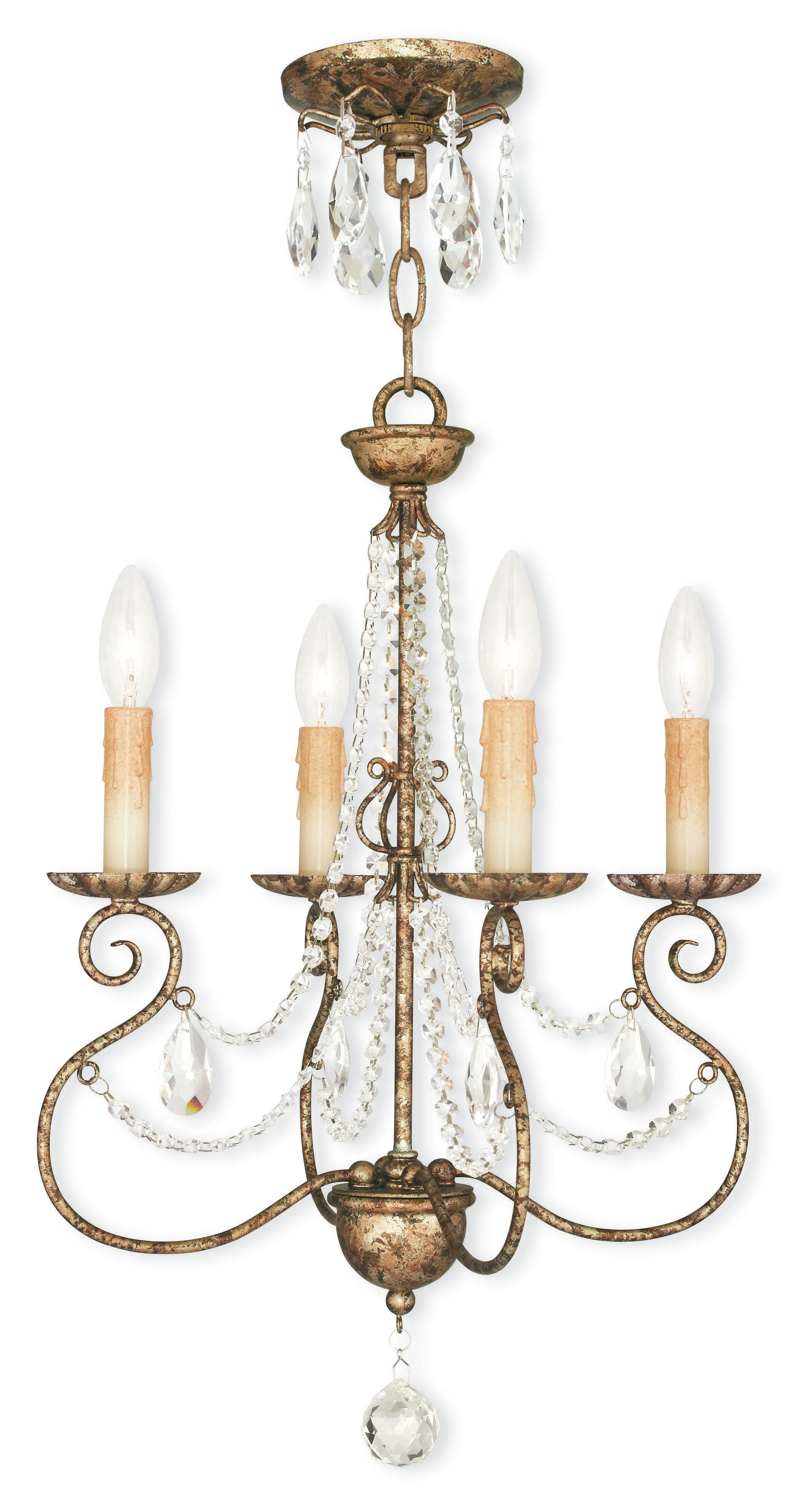Charley 4-Light Candle Style Chandelier