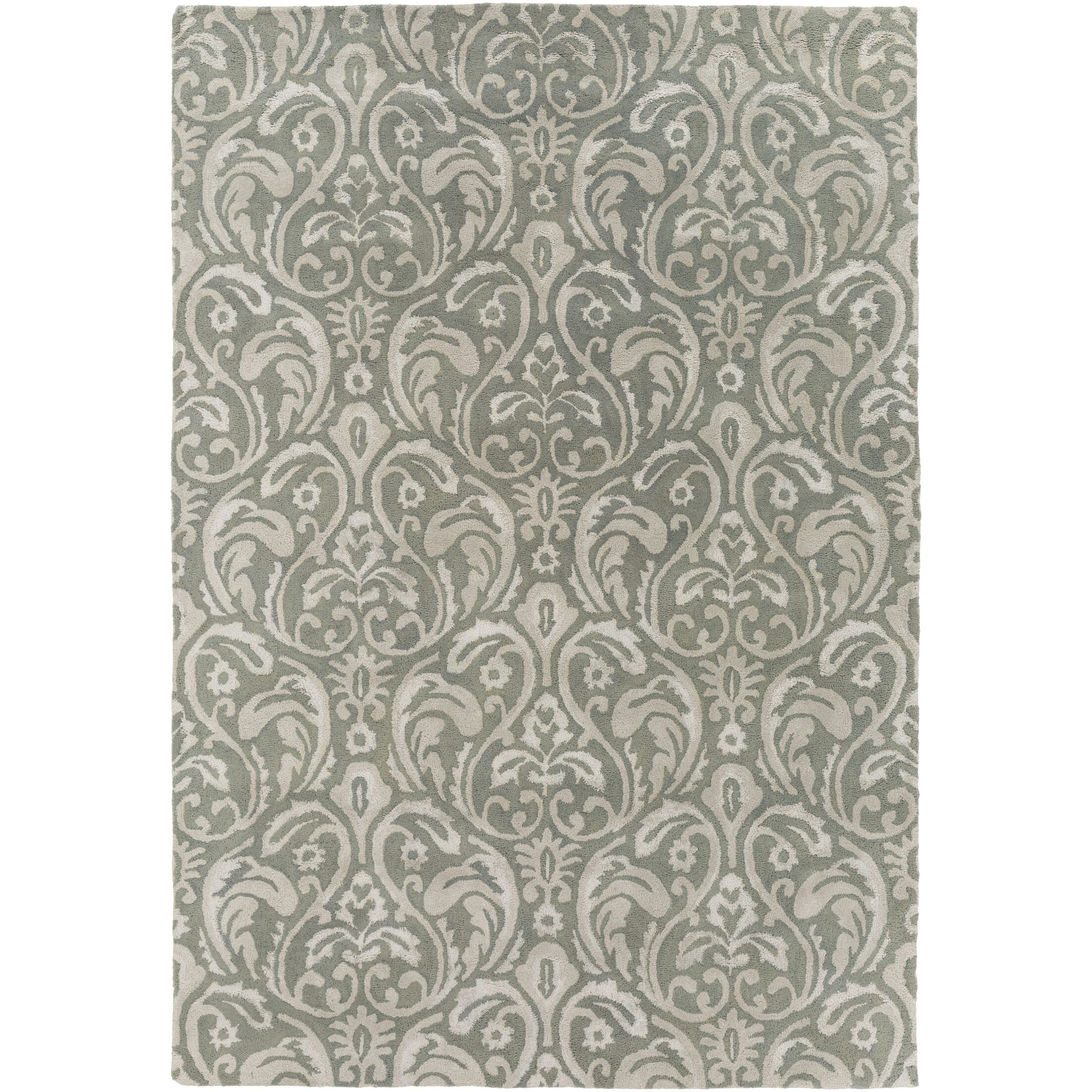 Batchler Hand-Tufted Sage/Light Gray Area Rug Rug Size: Rectangle 8' x 11'