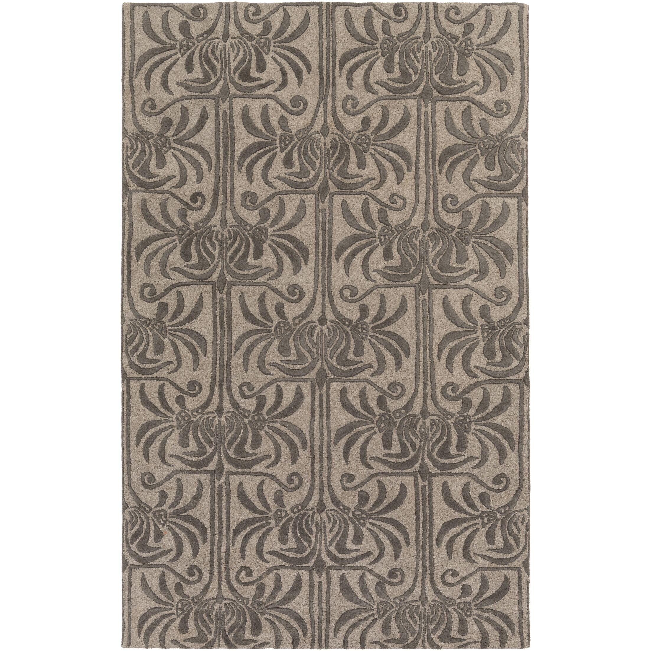 Bartell Hand-Tufted Black/Ivory Area Rug Rug Size: Rectangle 8' x 11'