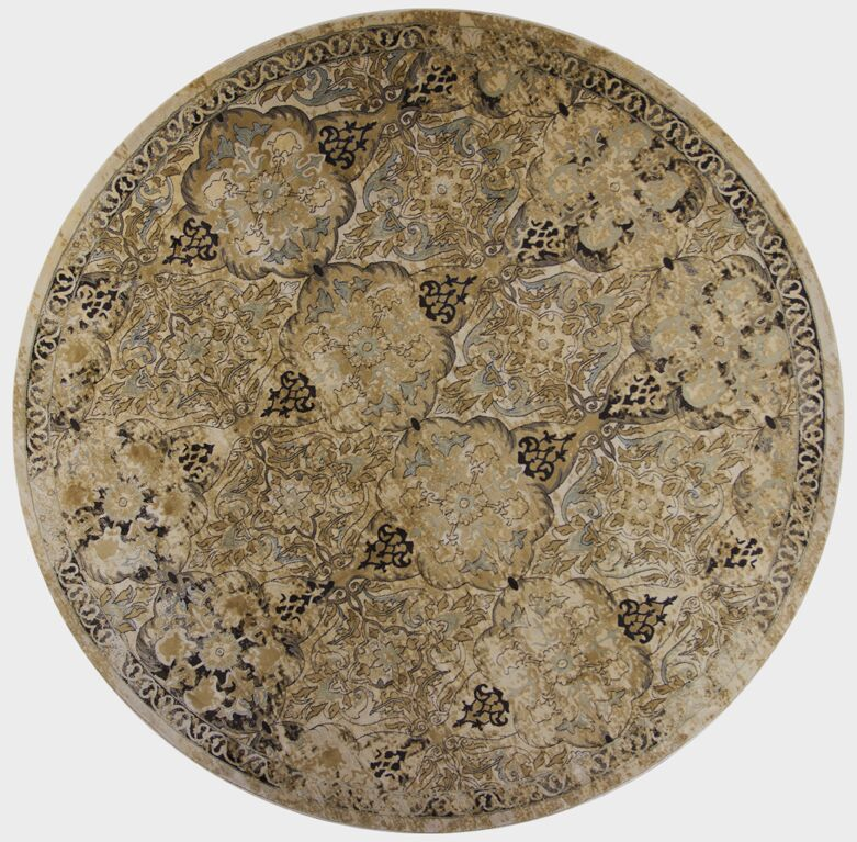 Bailor Ivory/Gray Area Rug Rug Size: Round 7'10
