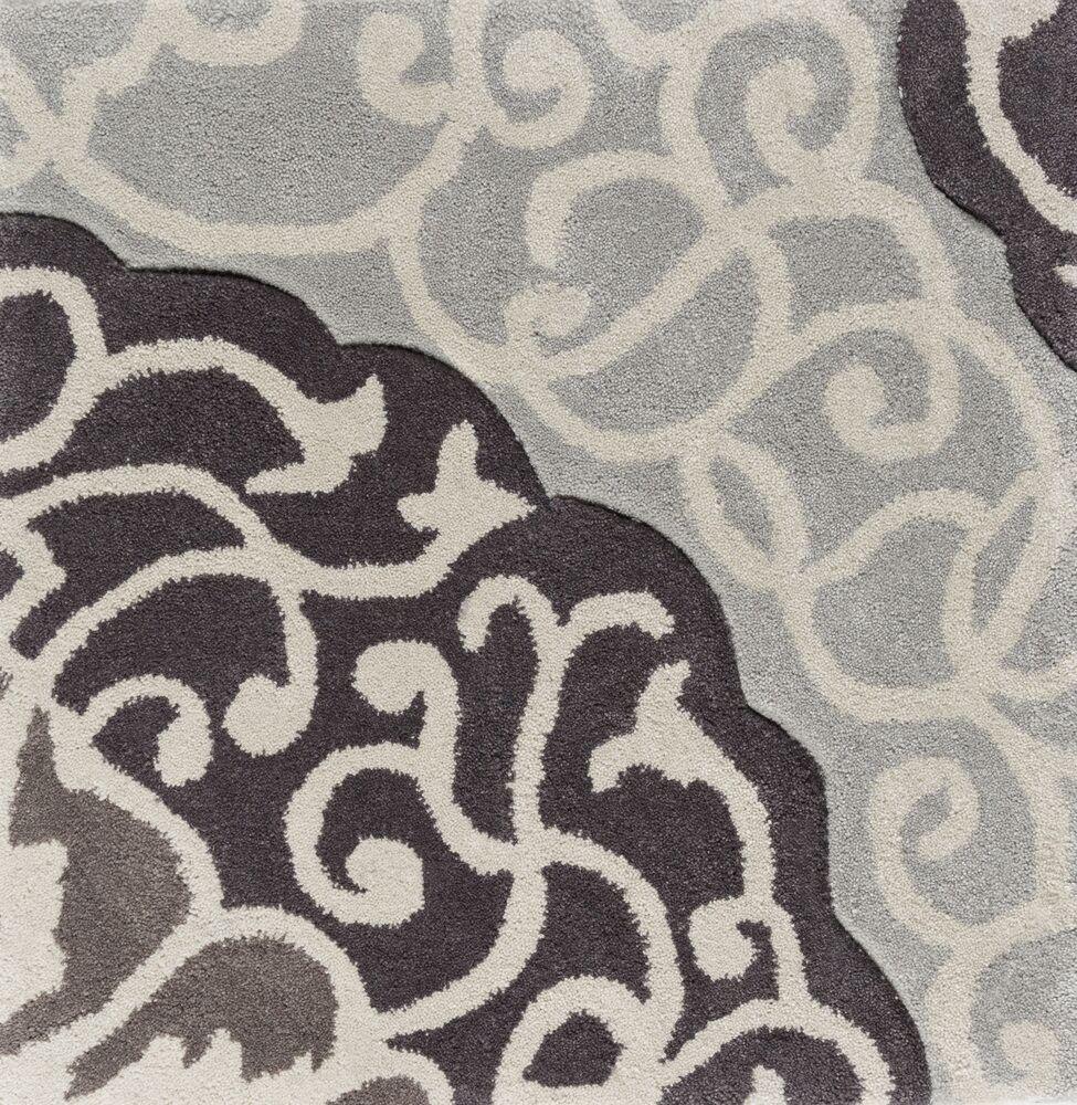Spenser Hand-Tufted Dark Brown/Light Gray Area Rug Rug Size: Runner 2'6