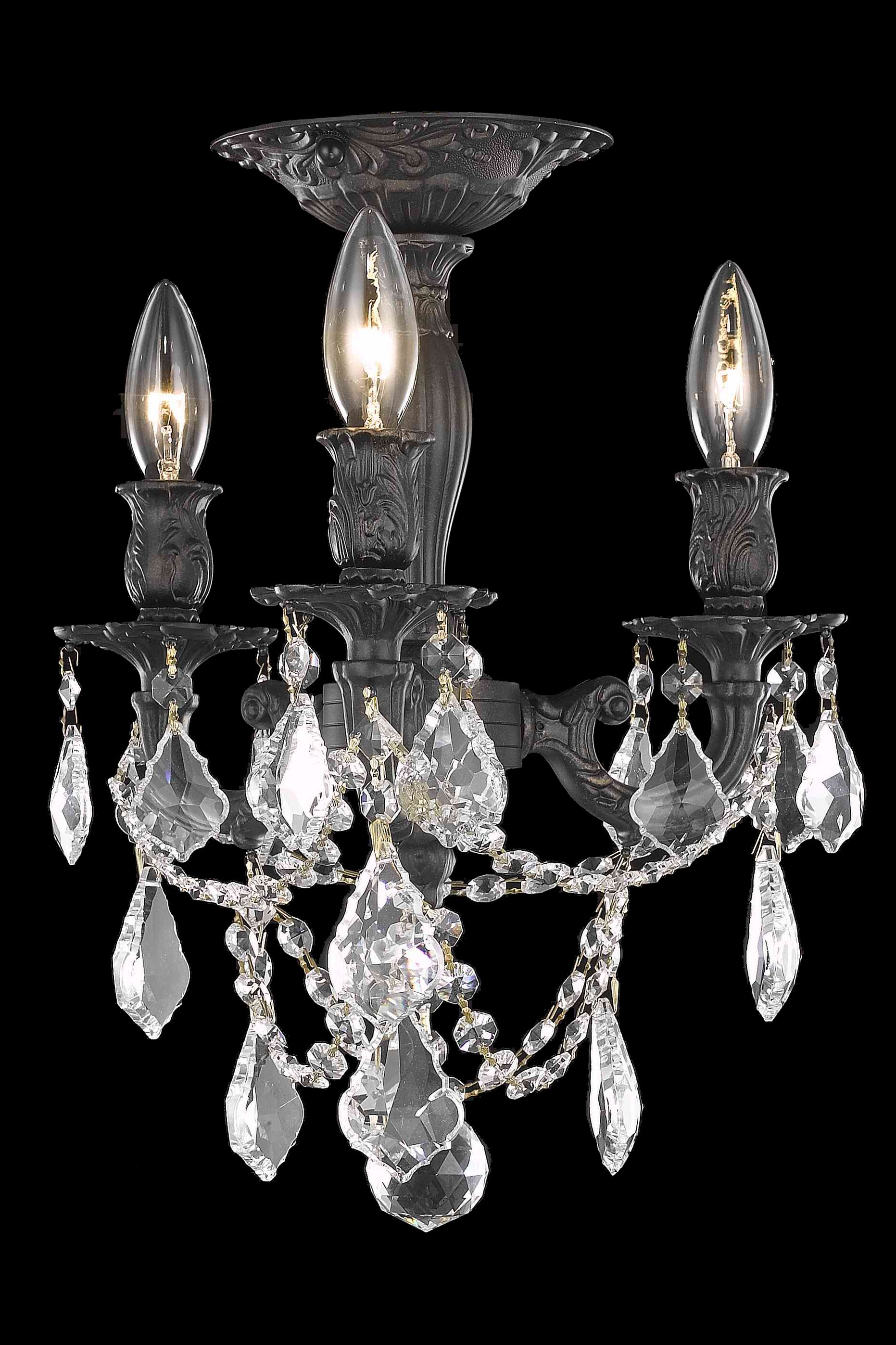 Reading 3-Light Candle Style Chandelier Crystal Color / Crystal Grade: Golden Teak (Smoky) / Strass Swarovski
