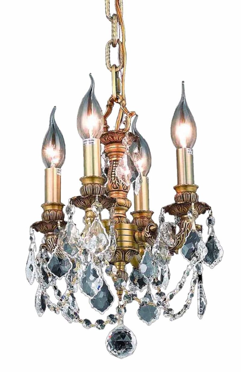 Downes 4-Light Candle Style Chandelier Color / Crystal Color / Crystal Trim: French Gold / Crystal (Clear) / Strass Swarovski