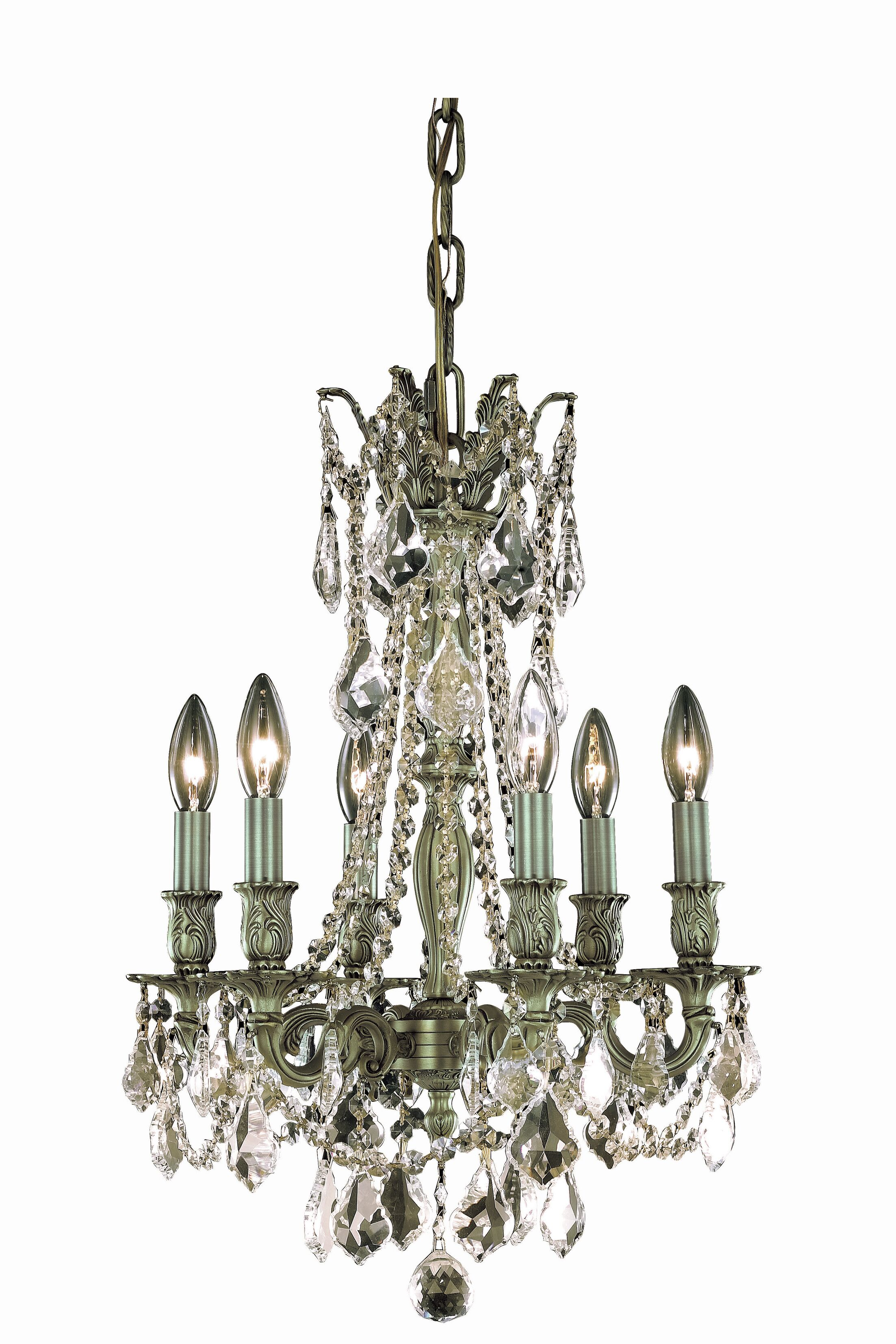 Utica 6-Light Candle Style Chandelier Color: French Gold, Crystal Grade: Elegant Cut