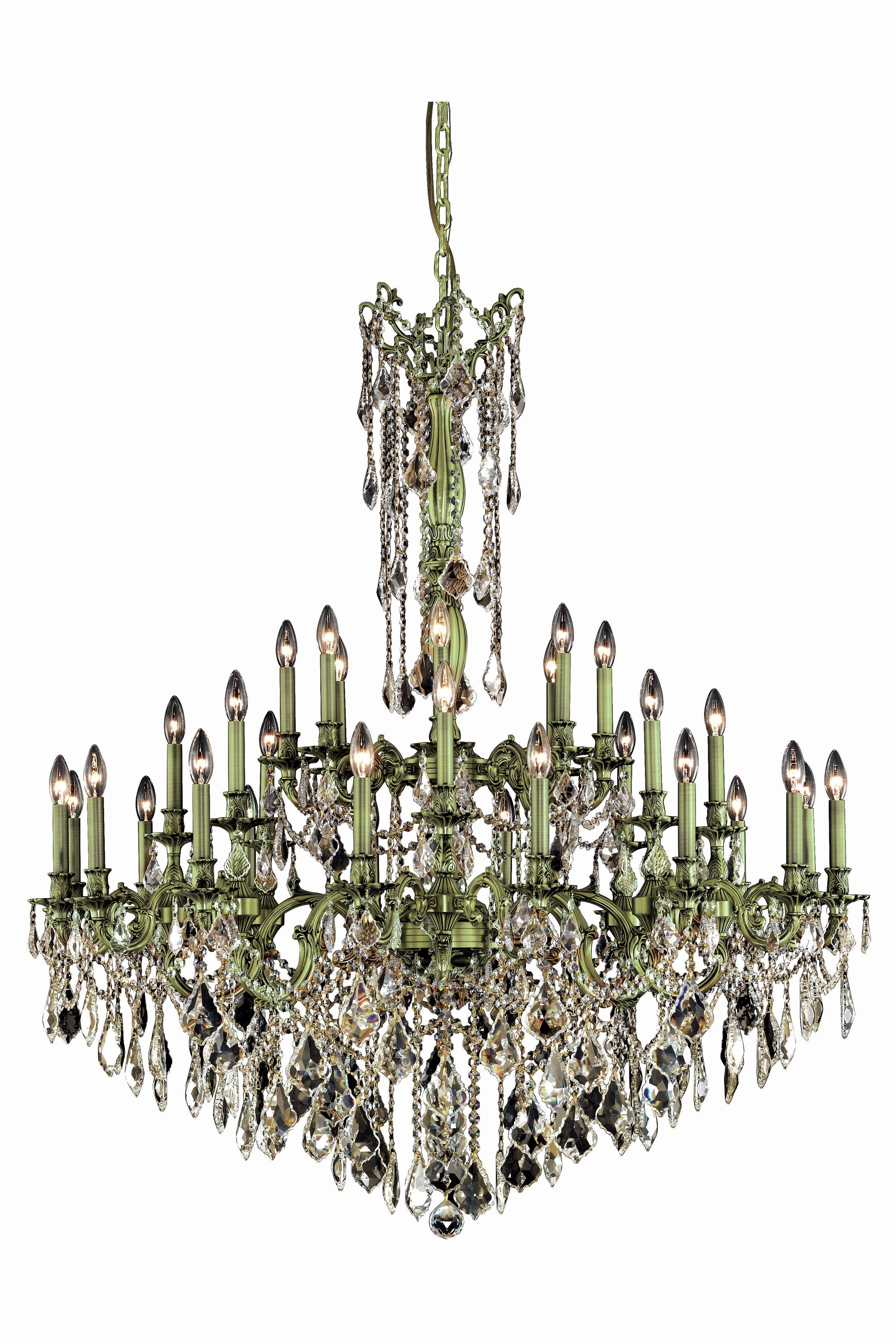 Utica 32-Light Candle Style Chandelier Crystal Grade: Royal Cut, Color: Pewter