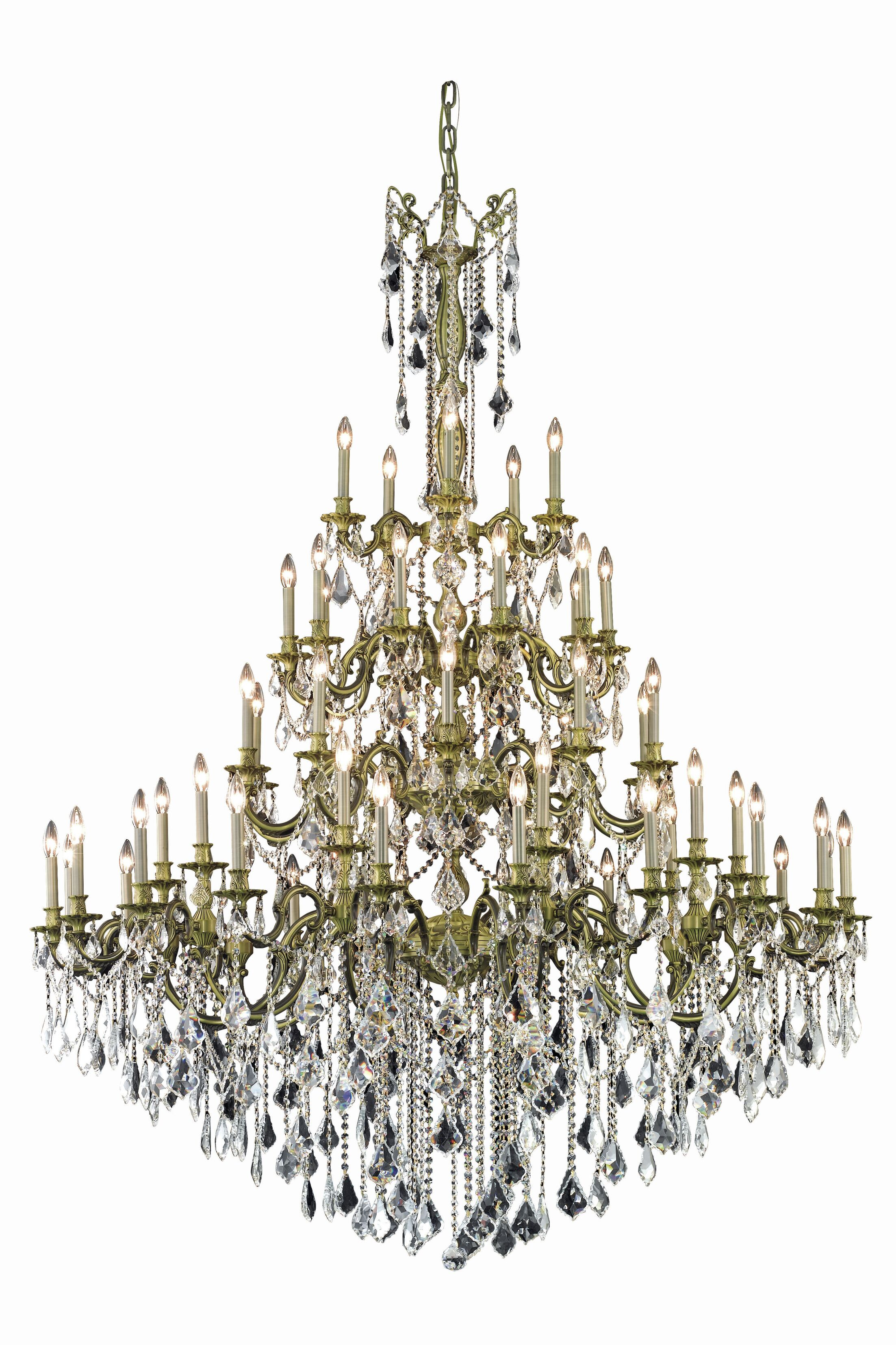Utica 55-Light Candle Style Chandelier Color: French Gold, Crystal Grade: Elegant Cut