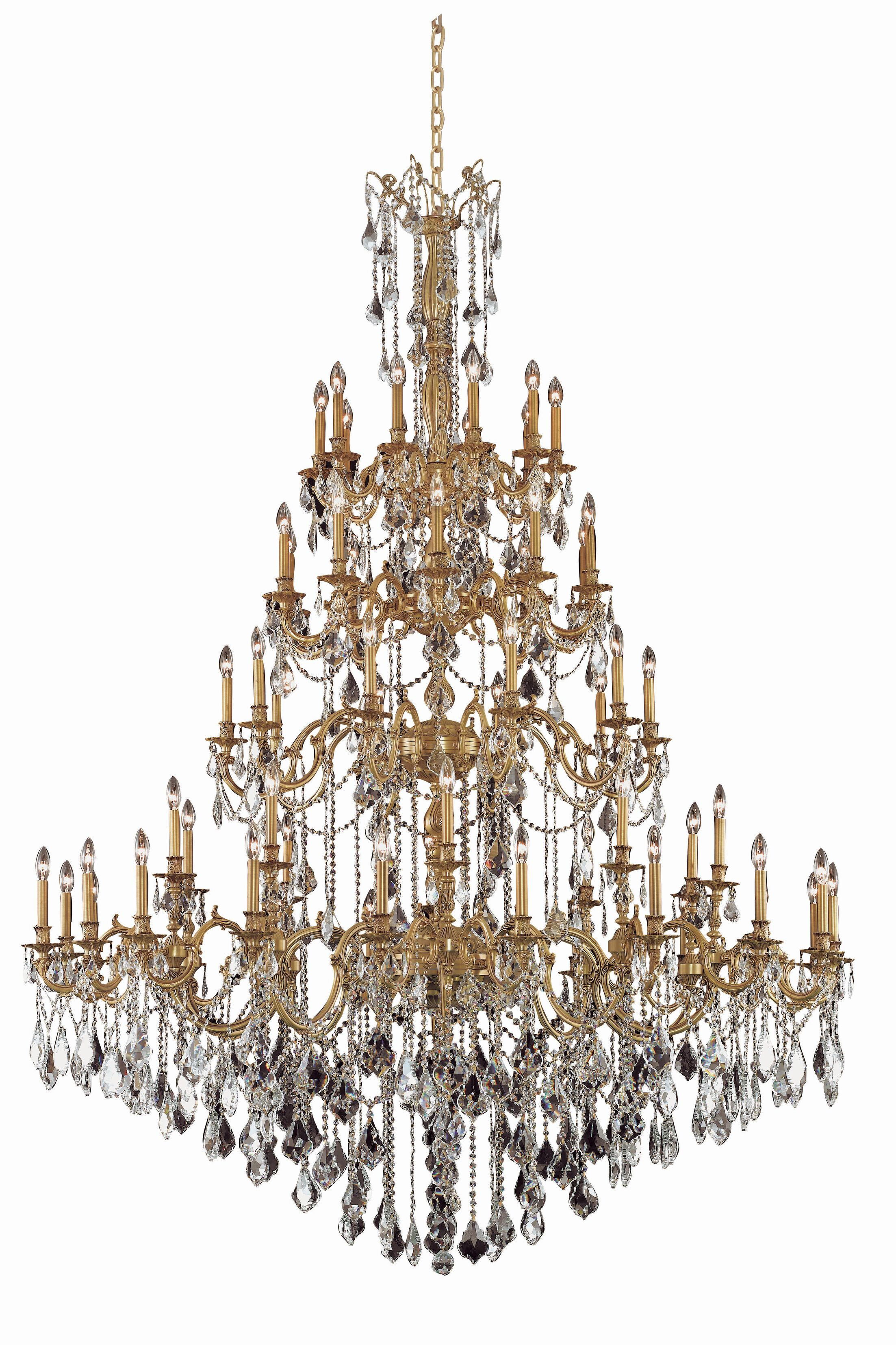 Utica 60-Light Candle Style Chandelier Crystal Grade: Swarovski Element, Color: French Gold
